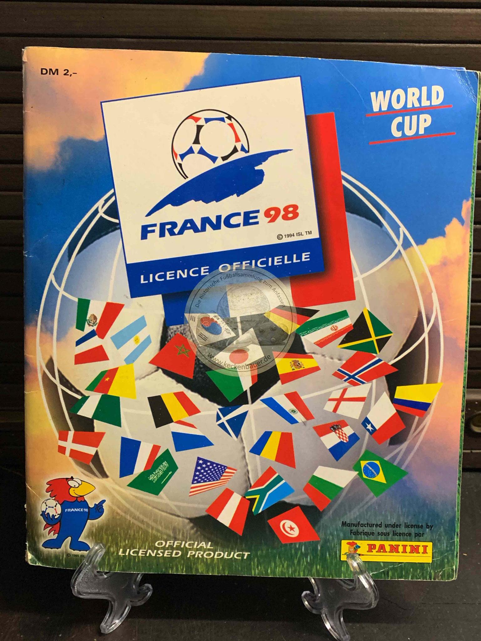 Panini Album von der WM 1998 in Frankreich