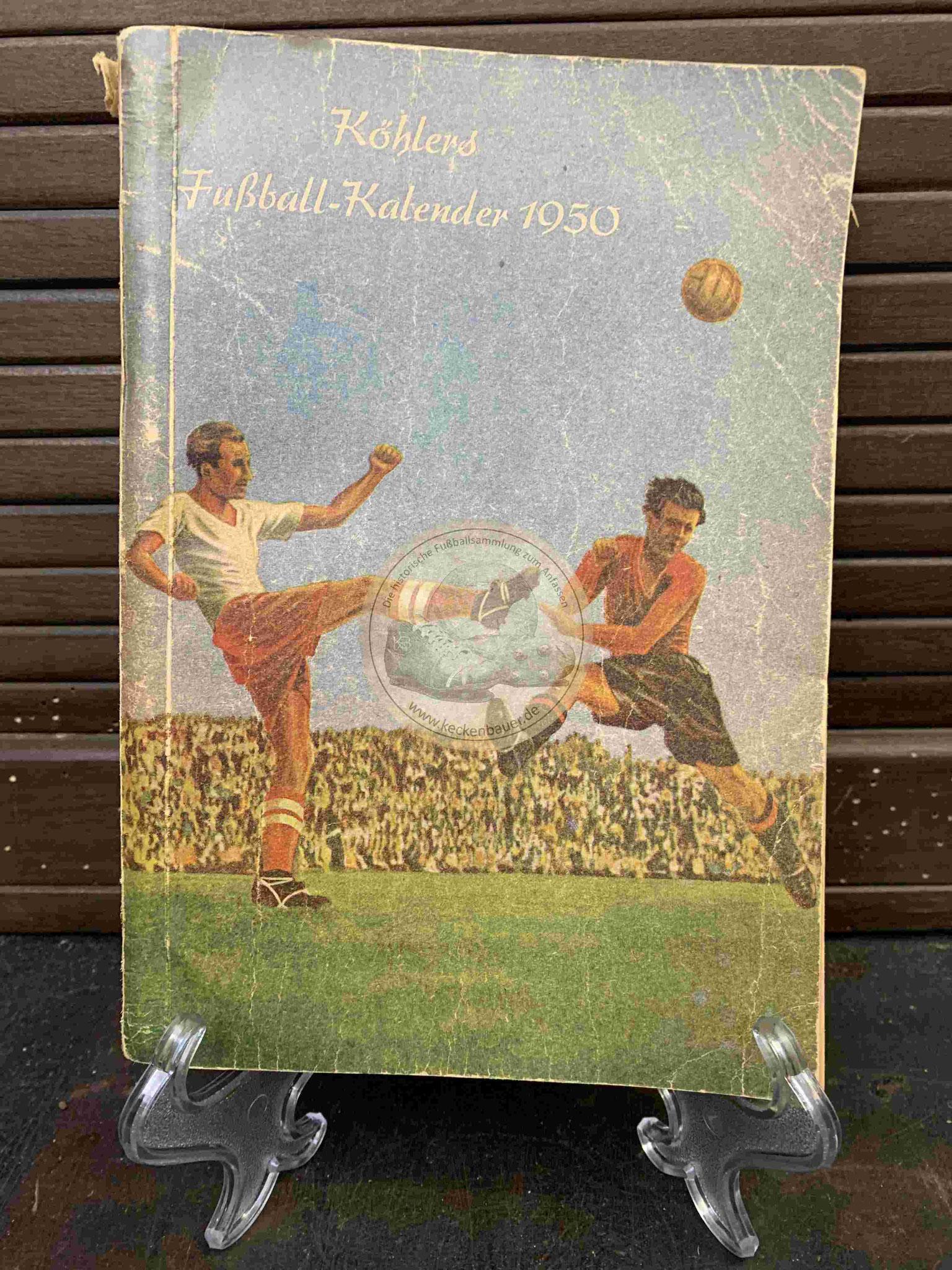 Köhlers Fußball-Kalender aus dem Jahr 1950