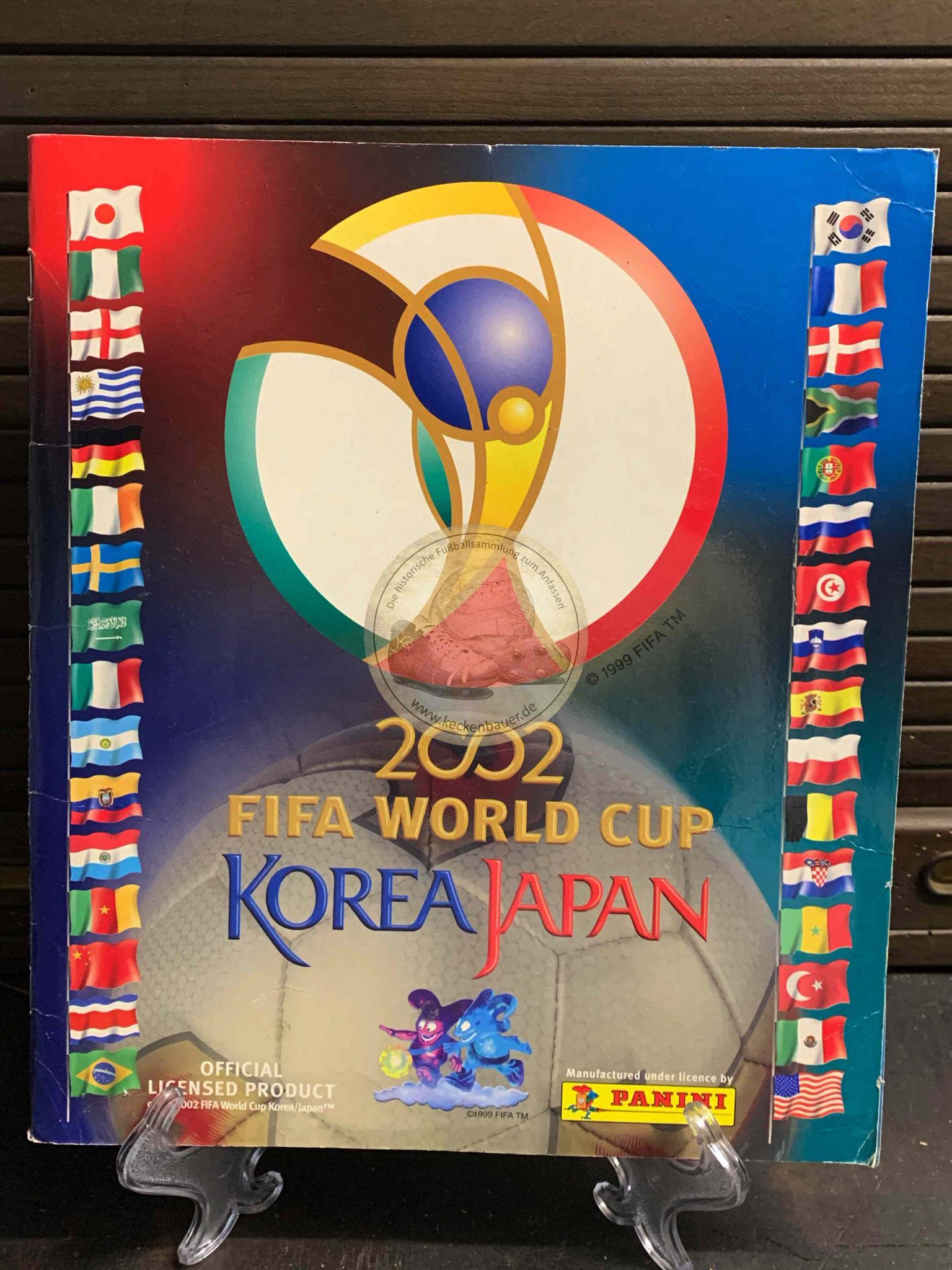 Panini Album von der WM 2002 in Japan und Südkorea
