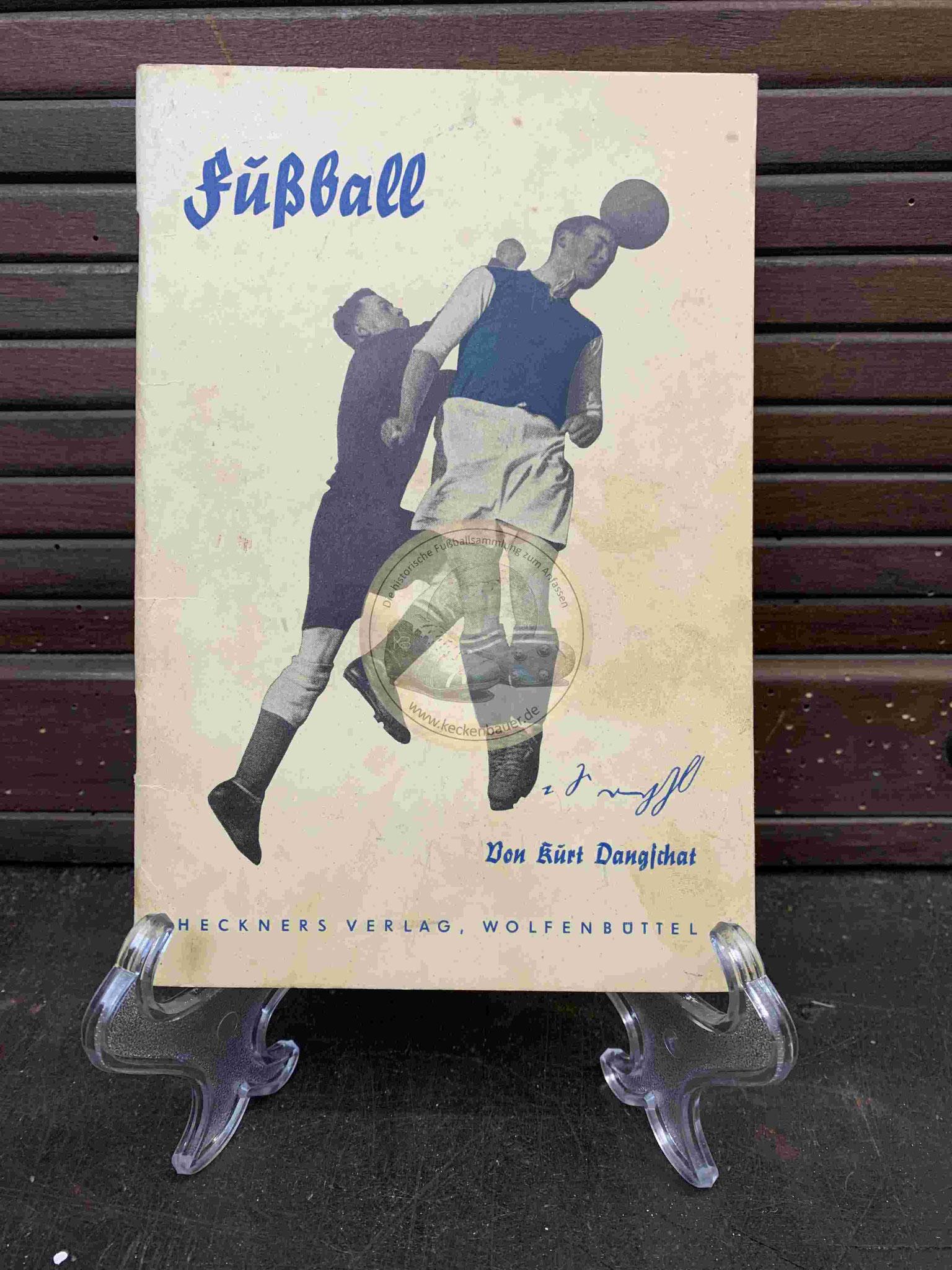 Fußball von Kurt Dangschat Sportheft in Deutscher Kurzschrift aus dem Jahr 1938