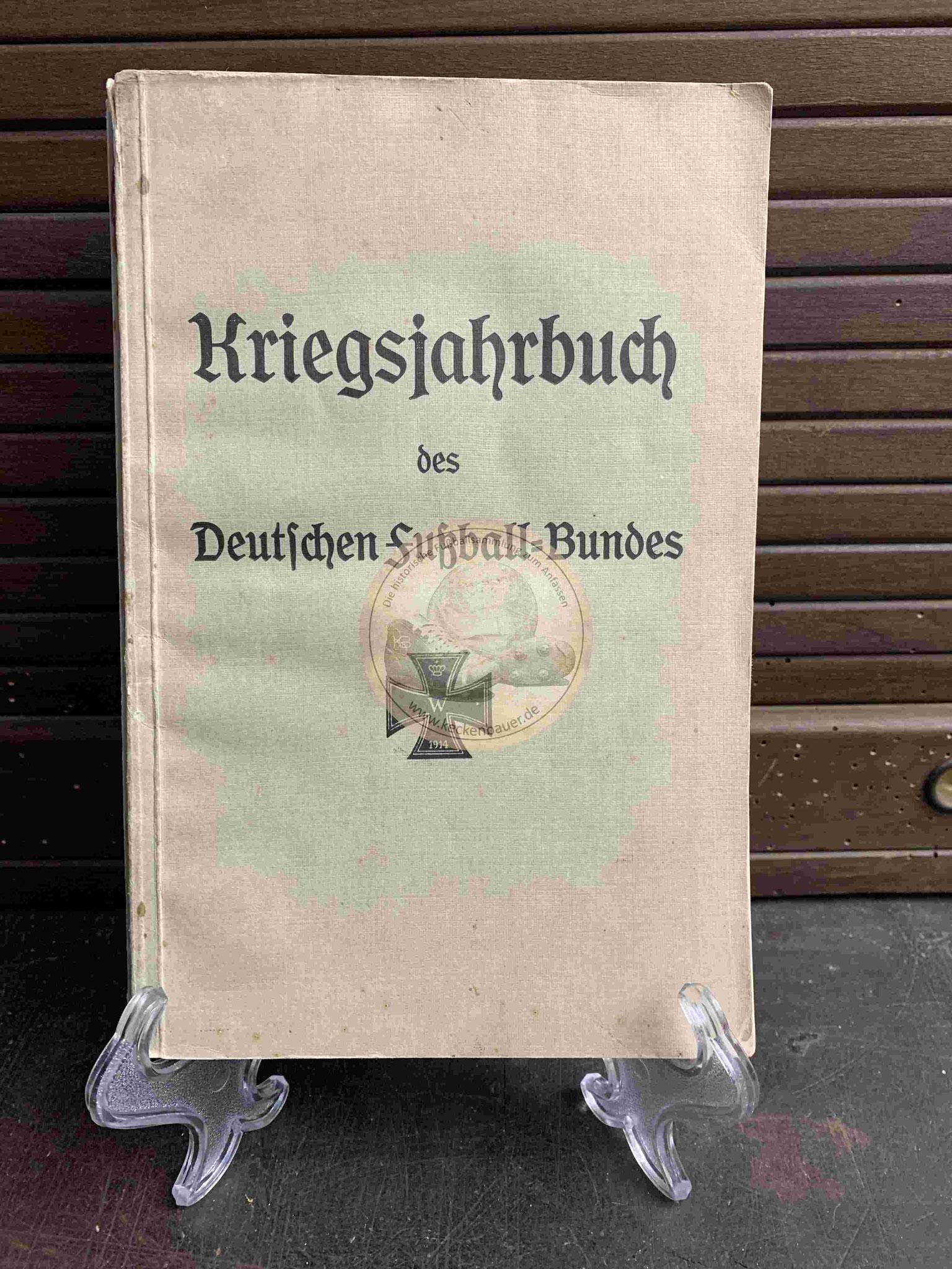 Deutsche Fußball Kriegsjahrbuch vom DFB aus dem Jahr 1914
