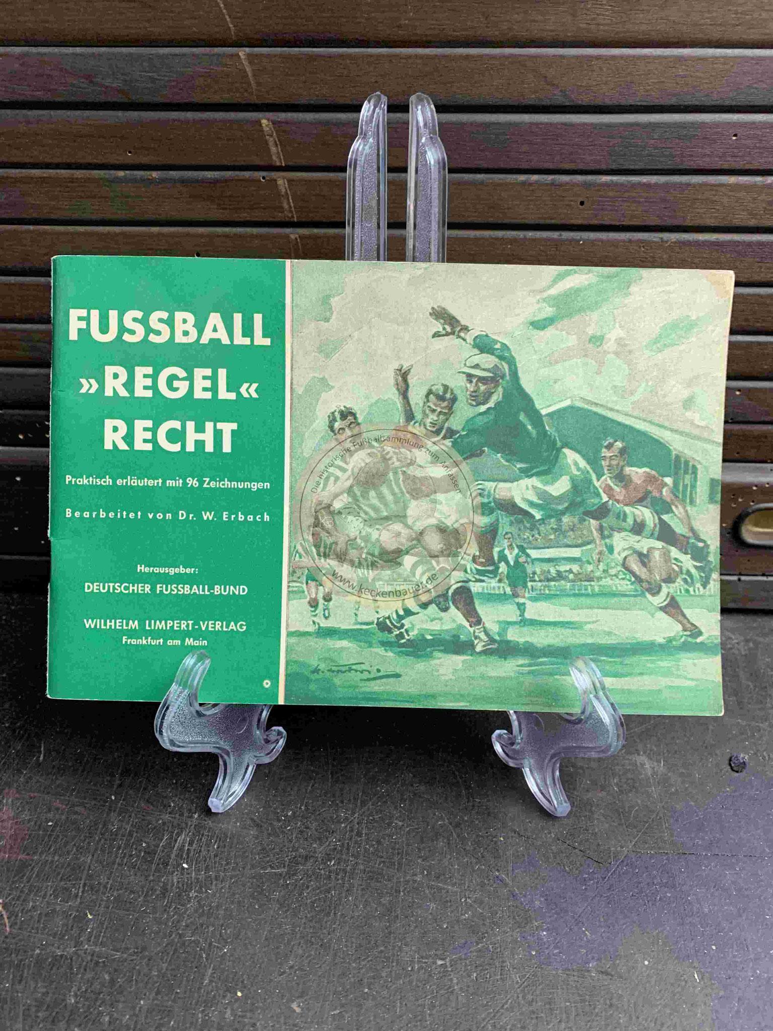"""Fussball """"Regel"""" Recht vom DFB aus dem Jahr 1957"""