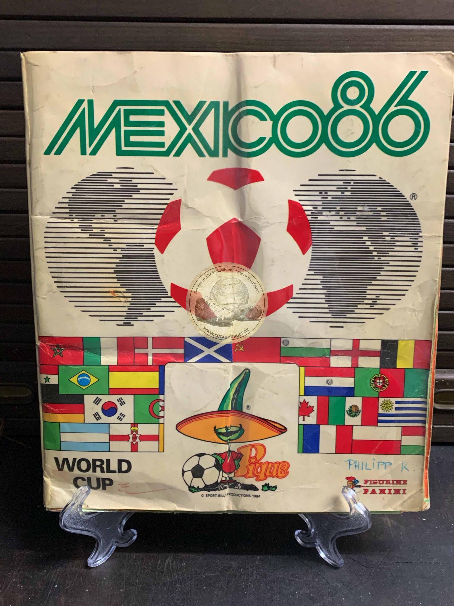 Panini Album von der WM 1986 in Mexico