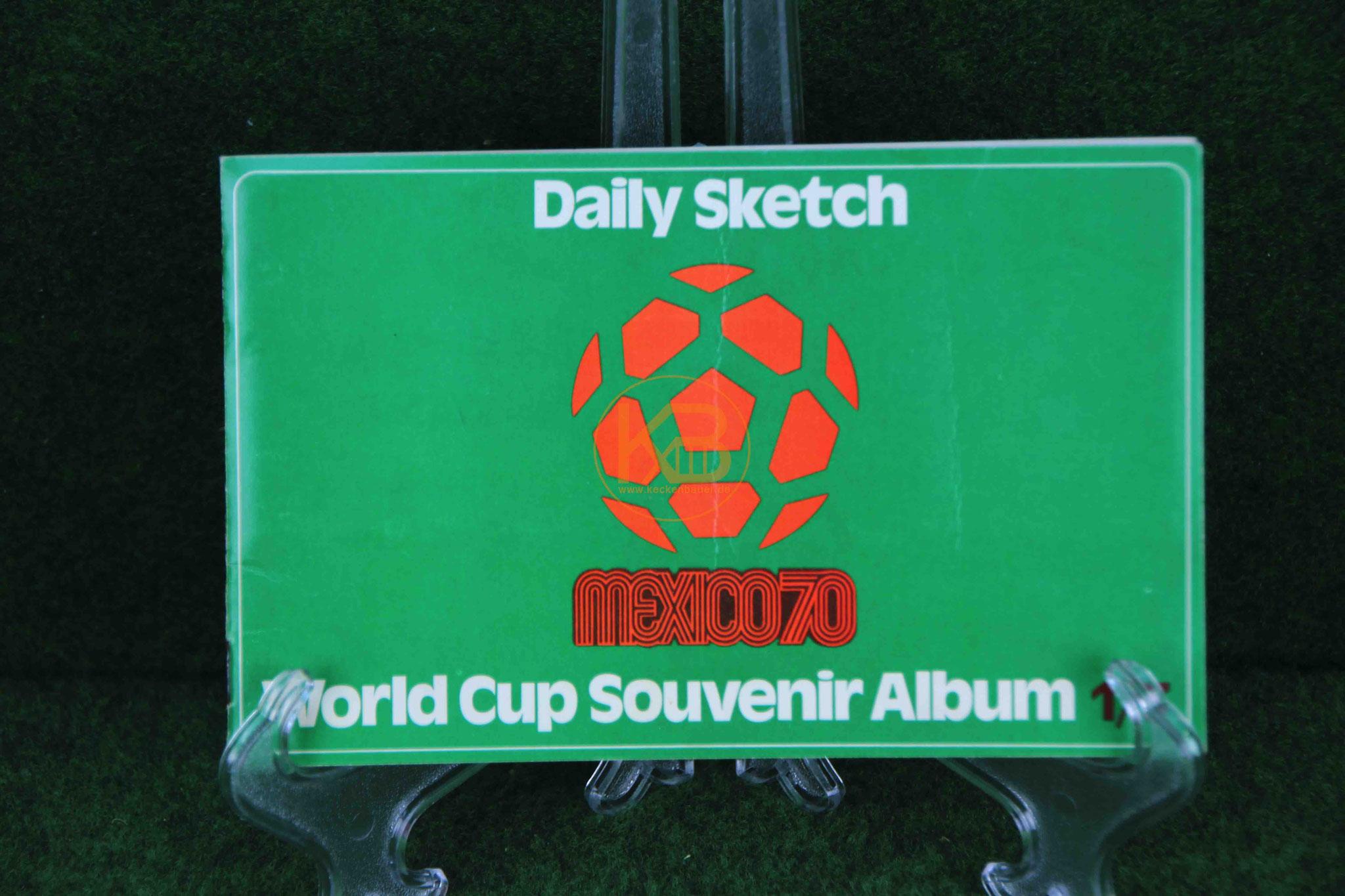 Sammelalbum World Cup Souvenir von Daily Sketch anläßlich der WM 1970 in Mexico