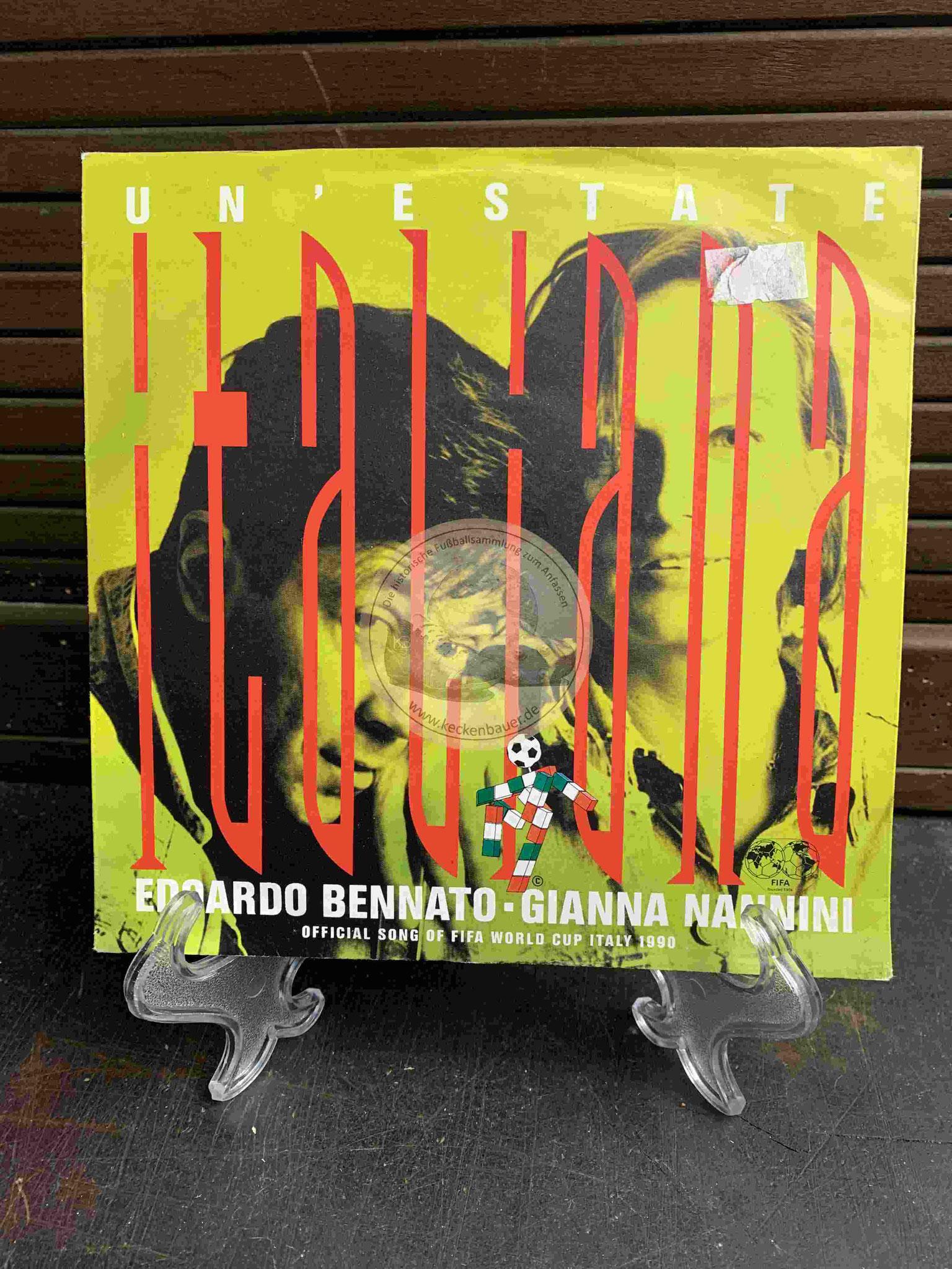 1990 Platte mit Italiana von Edoardo Bennato und Gianna Nannini