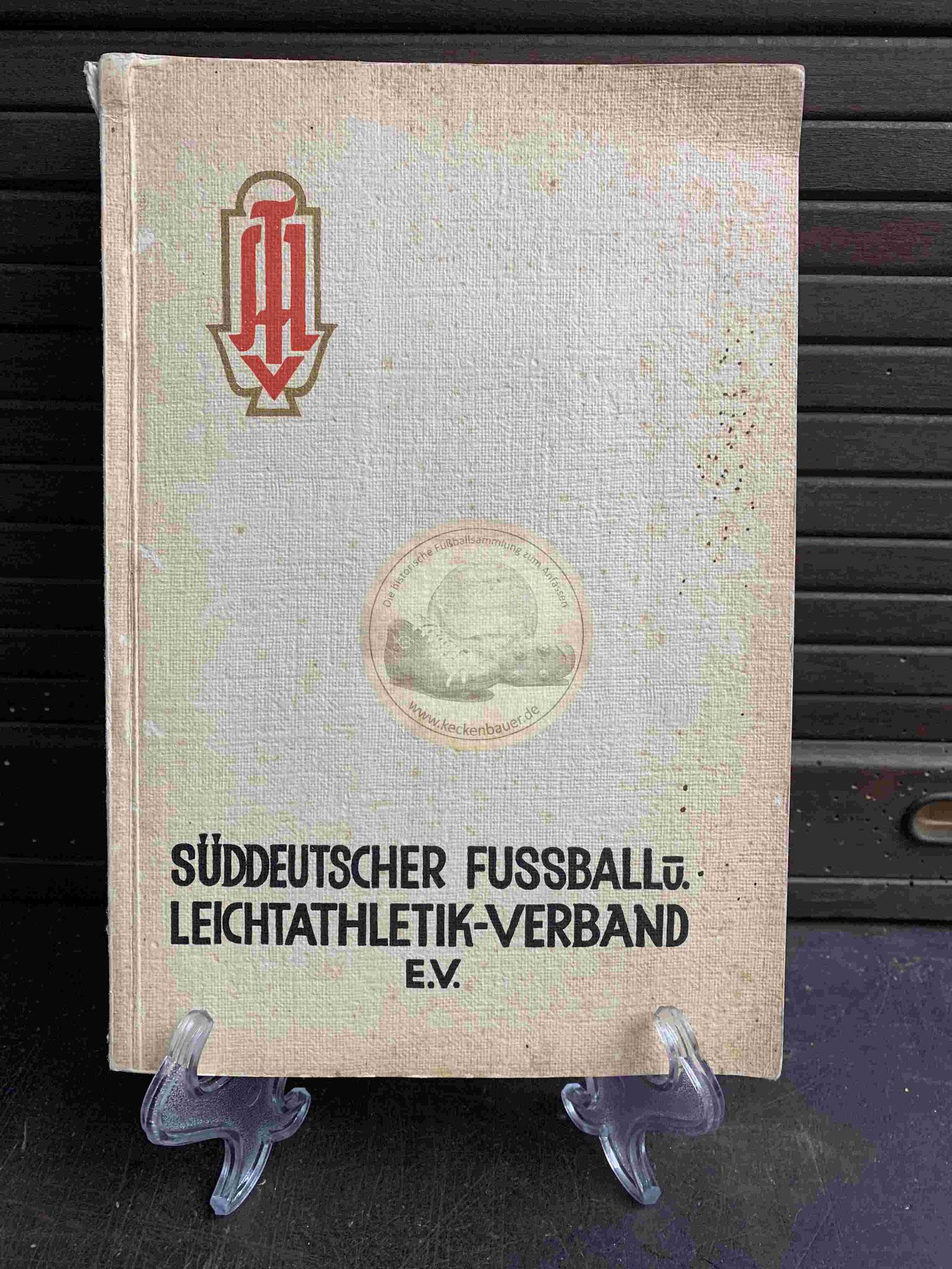 Süddeutscher Fussball und Leichtathletik-Verband e.V. aus dem Jahr 1928