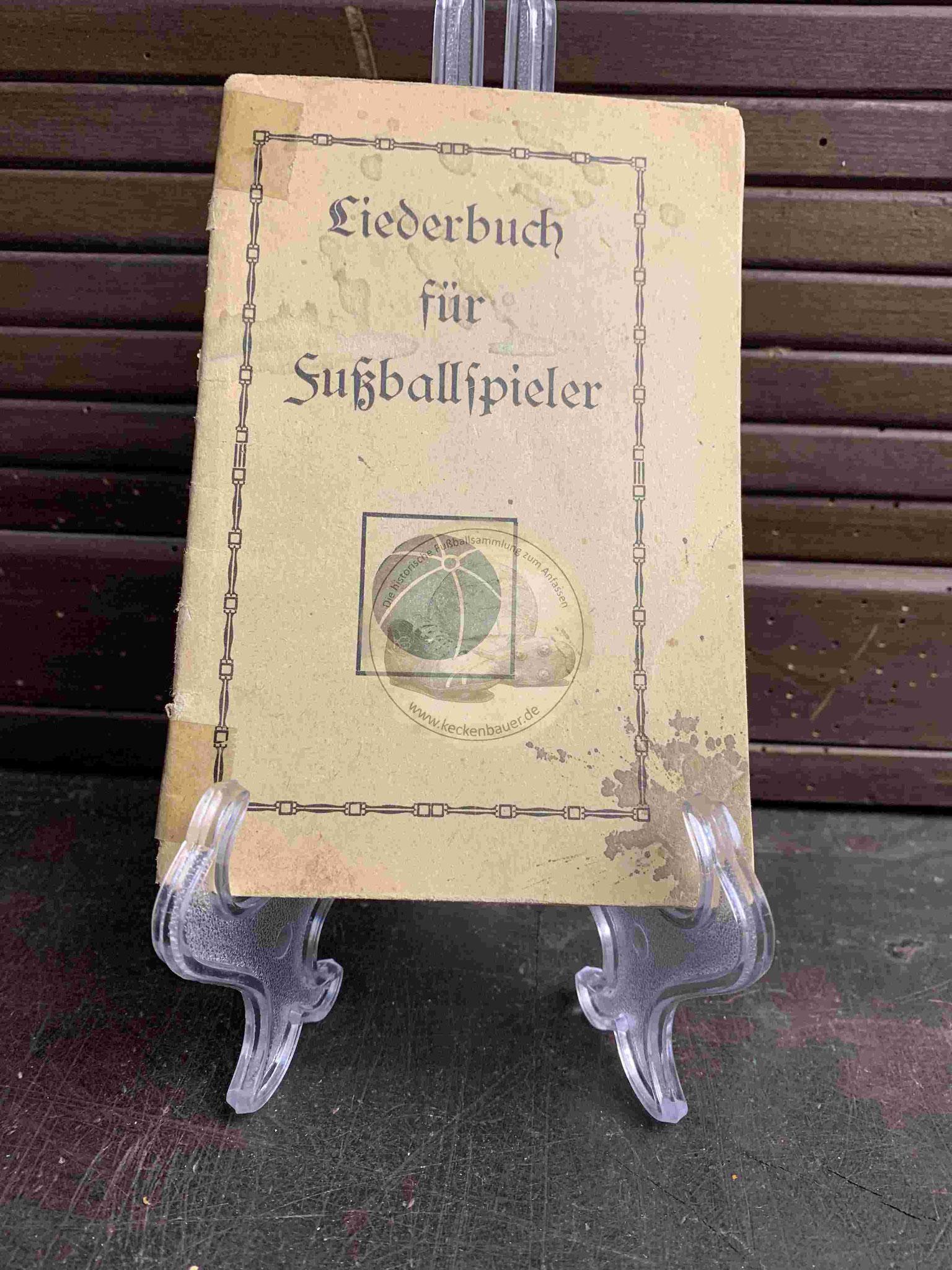 Liederbuch für Fußballspieler von vor 1920