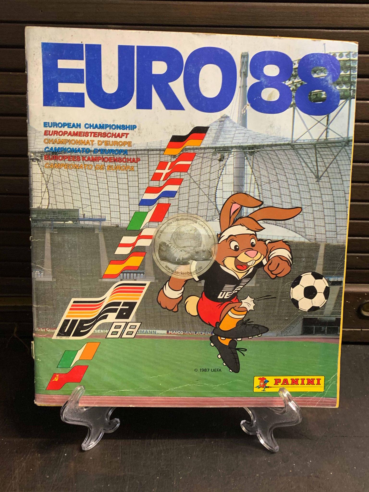 Panini Album von der EM 1988 in Deutschland
