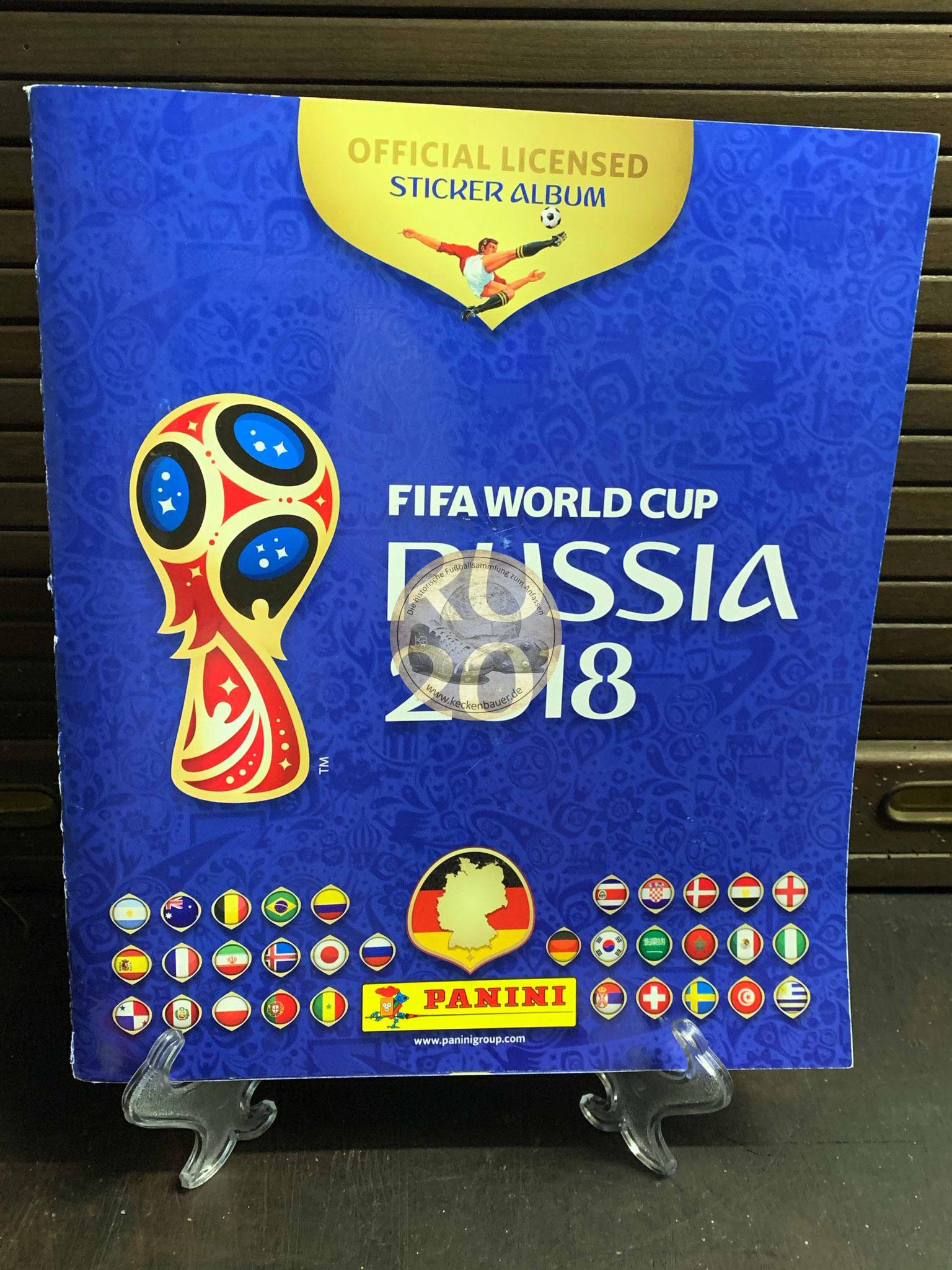 Panini Album von der WM 2018 in Russland