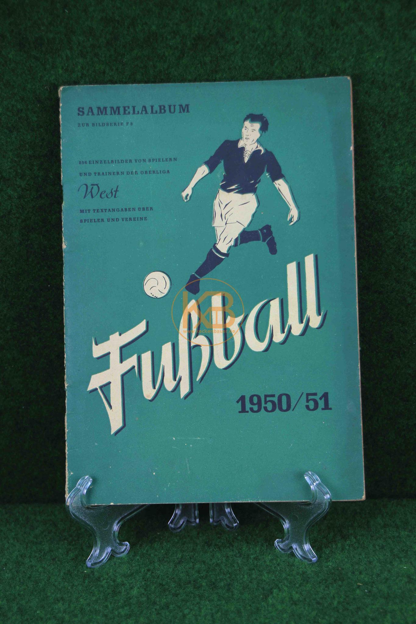 Sammelalbum Serie F6, Quita Werke Augsburg 1950/51, Oberliga West leider nicht vollständig also wer noch Bilder rumliegen hat immer her damit.