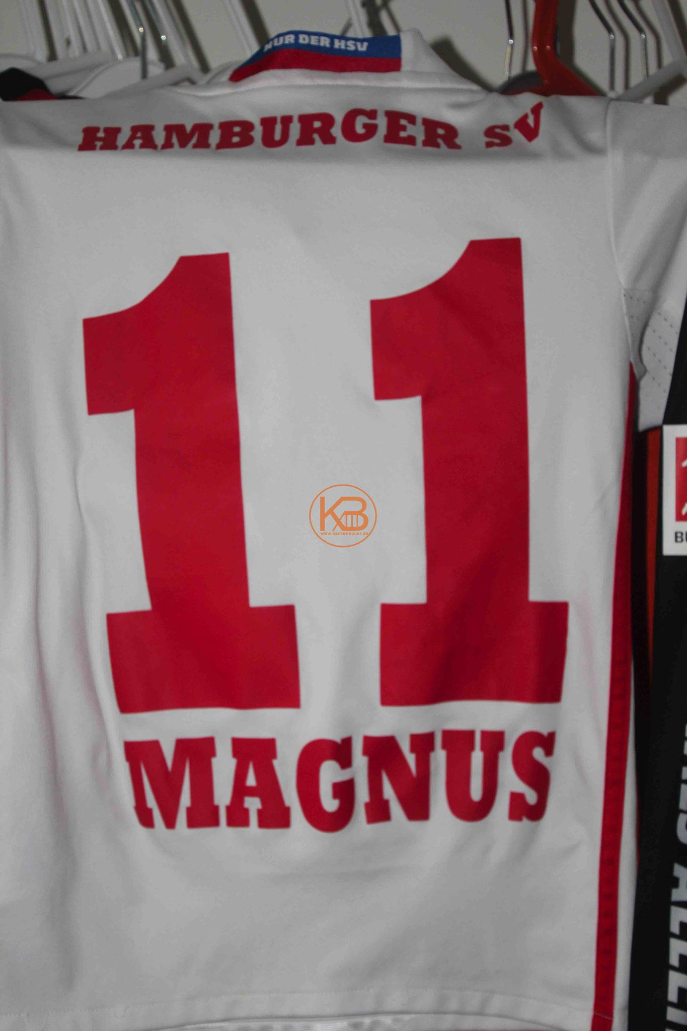 Trikot mit Eigennamen vom HSV mit der Nummer 11 2/2