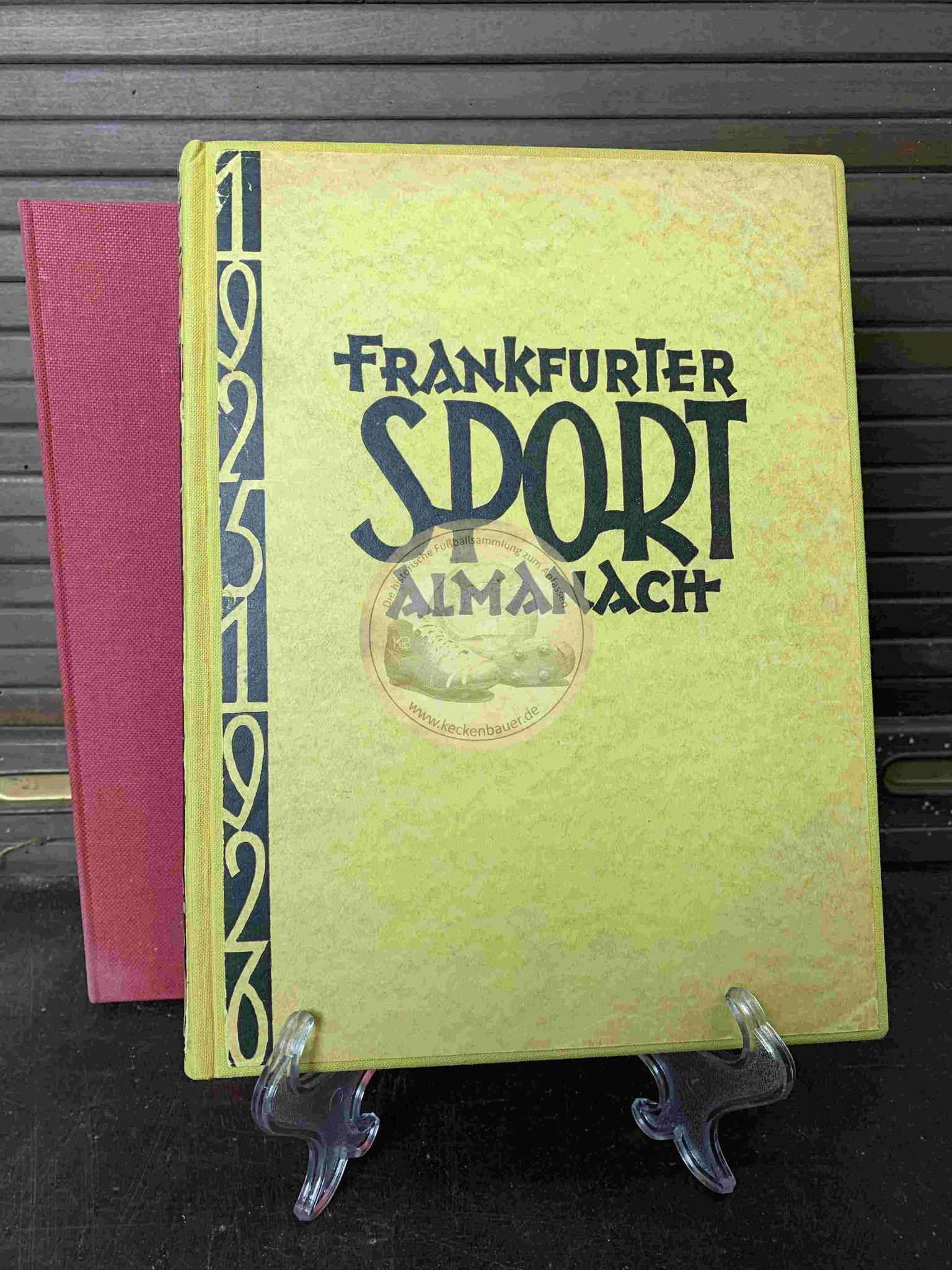 Frankfurter Sport Almanach im Schober aus dem Jahr 1925
