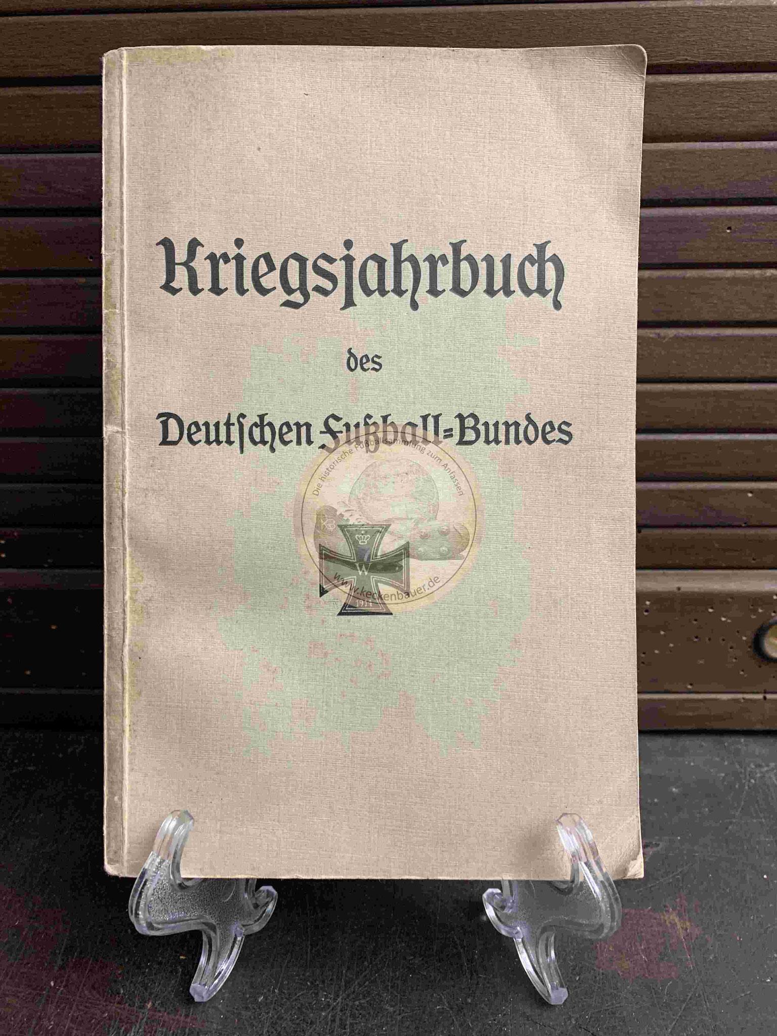 Deutsche Fußball Kriegsjahrbuch vom DFB aus dem Jahr 1914 mit Stempeln aus dem Jugendheim Steinhorst