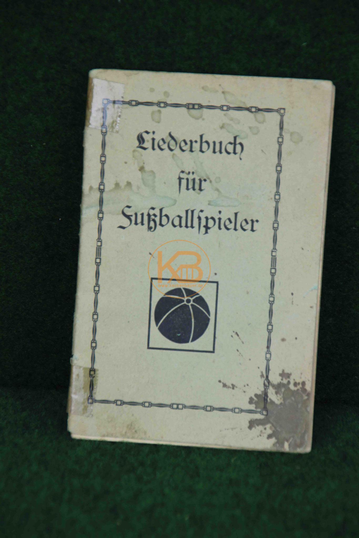 Liederbuch für Fußballspieler vermutlich aus den 1920er Jahren