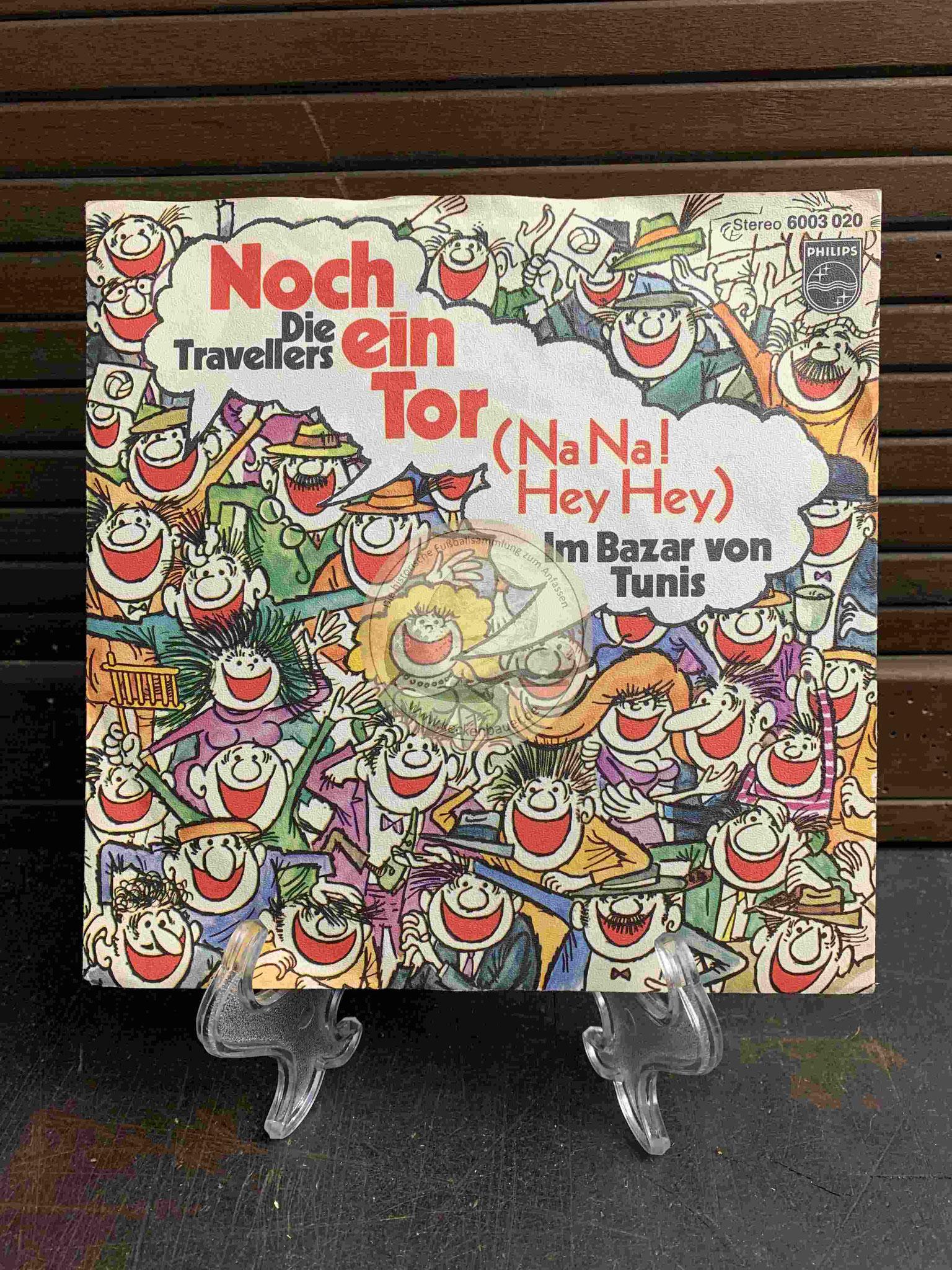 1970 Fußball-Single Noch ein Tor - Die Travellers - Philips