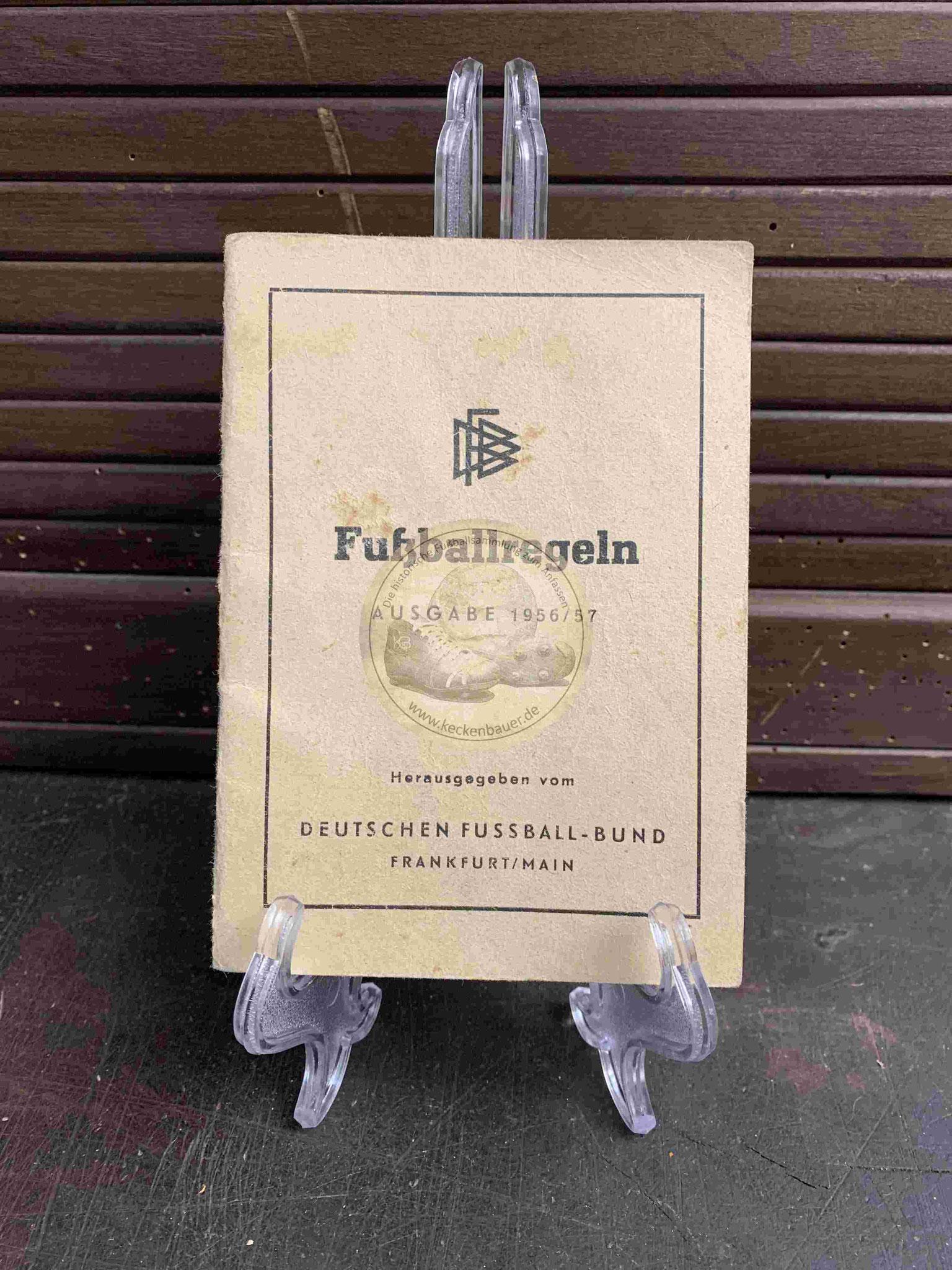 Fussballregeln des DFB aus dem Jahr 1956/57