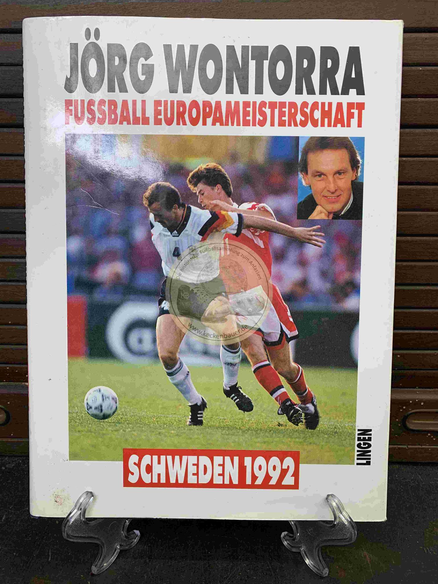 Jörg Wontorra Fußball Europameisterschaft Schweden 1992 vom Lingen Verlag