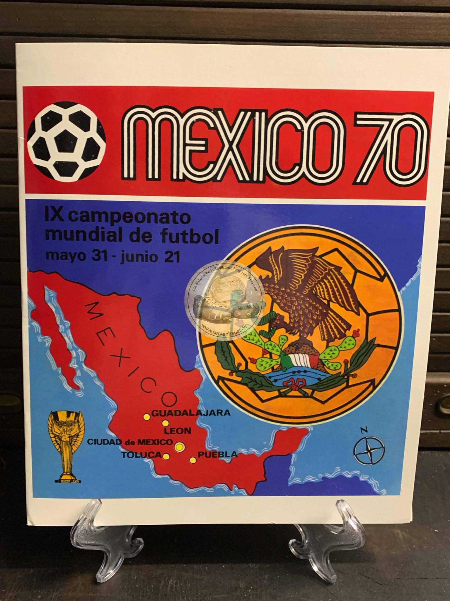 Panini Album von der WM 1970 in Mexico gedruckte Variante