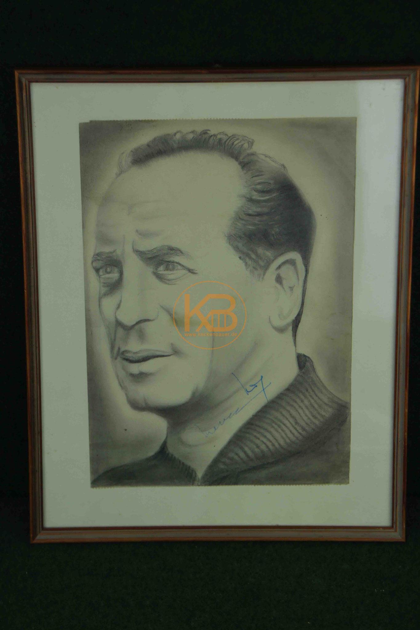 Ein Selbstportrait mit der Signatur von Max Merkel, was ebenfalls aus seinem Nachlass stammt.
