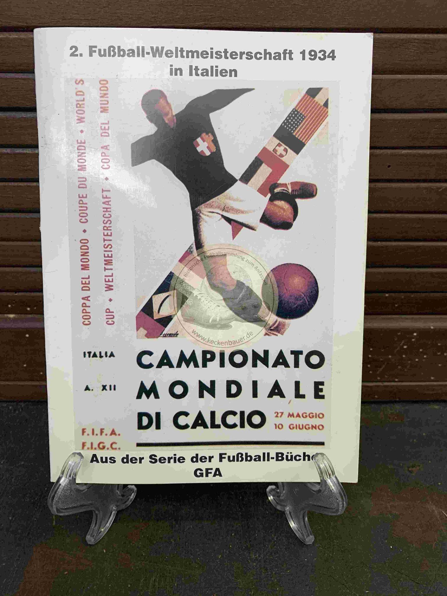Programmheft der Fußball WM in Italien aus dem Jahr 1934, ein Reprint aus dem Jahr 1990