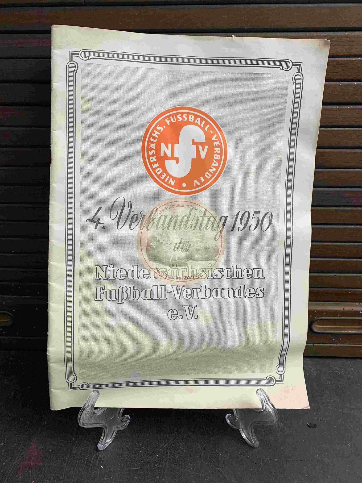 4. Verbandstag 1950 des Niedersächsischen Fussballverbandes e.V.
