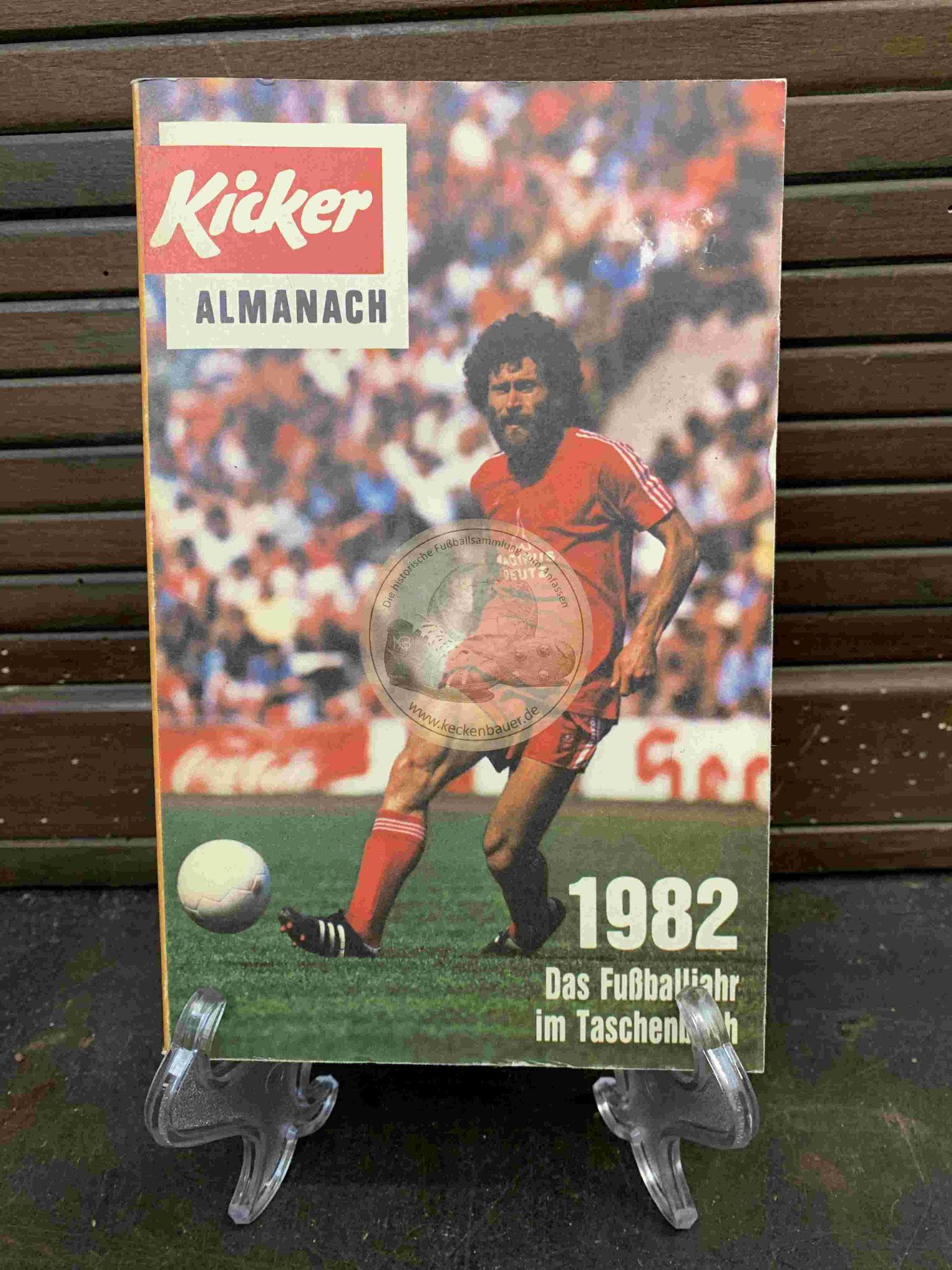 Kicker Almanach aus dem Jahr 1982