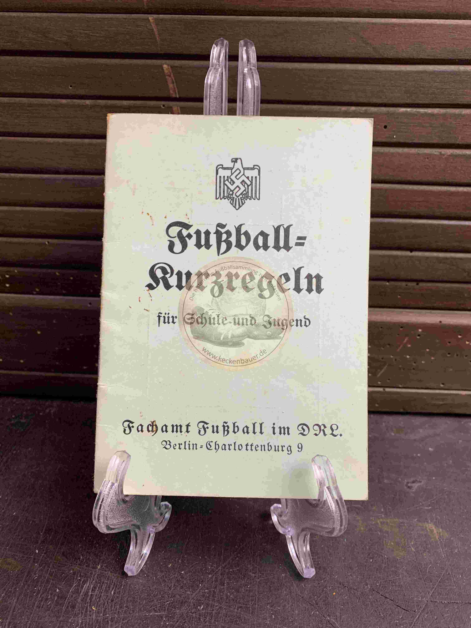 Fußball Kurzregeln für Schule und Jugend vom Fachamt Fußball im DRL (Deutscher Reichsbund für Leibesübungen) aus dem Jahr 1937
