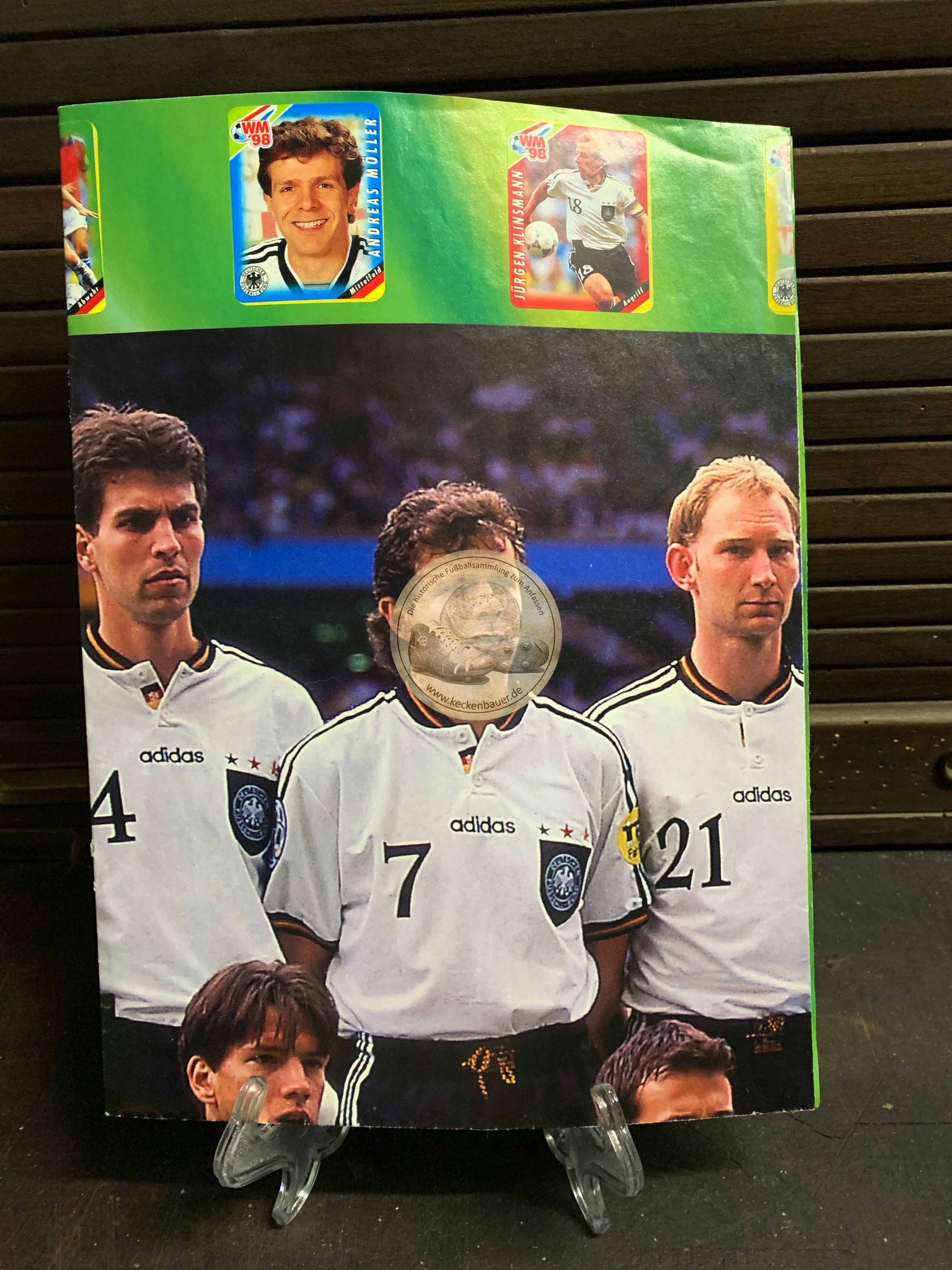 Sammelposter Fußball EM 1996 von Ferrero