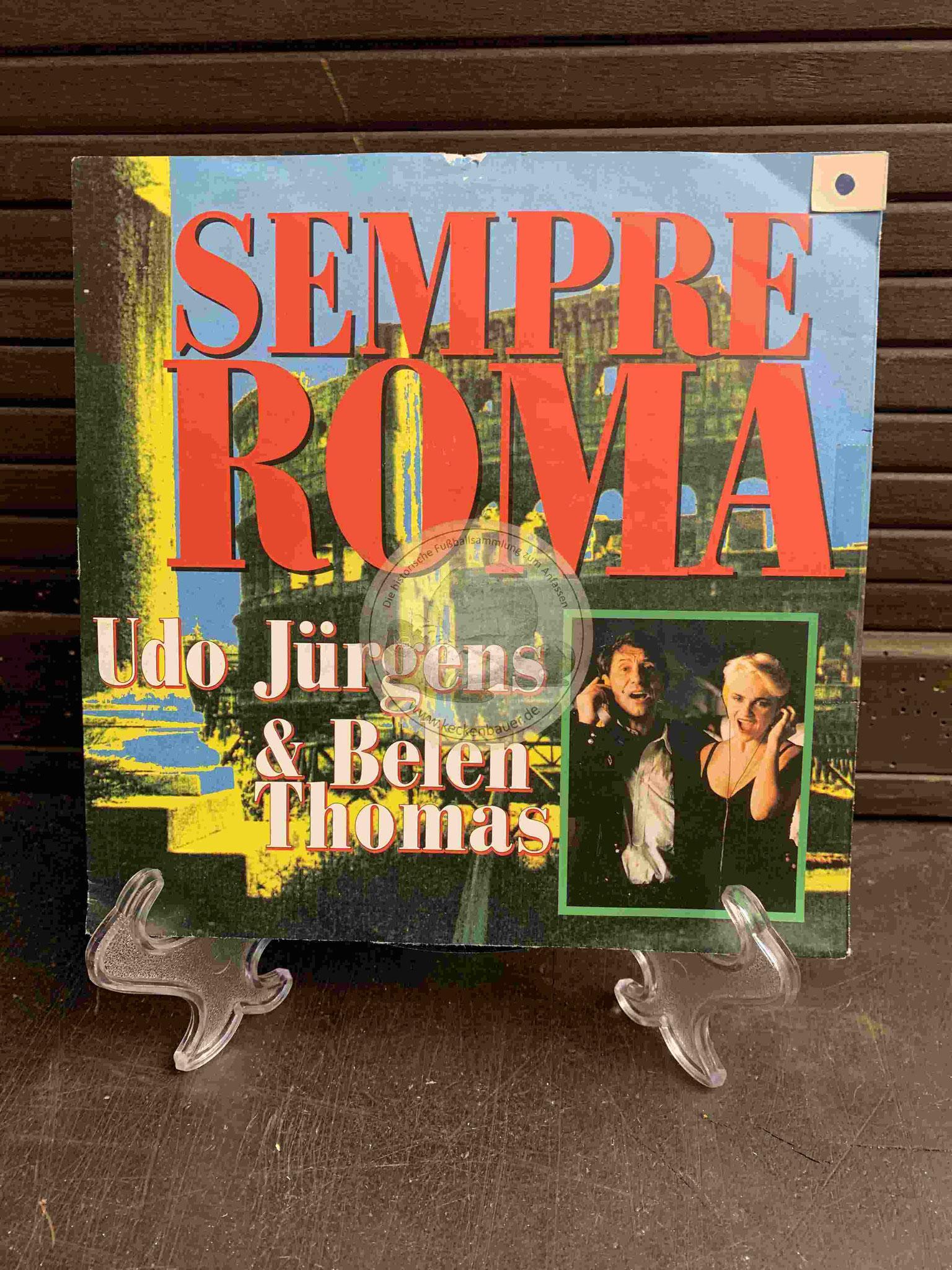 1990 Platte von Udo Jürgens und Belen Thomas mit Sempre Roma zur WM 1990