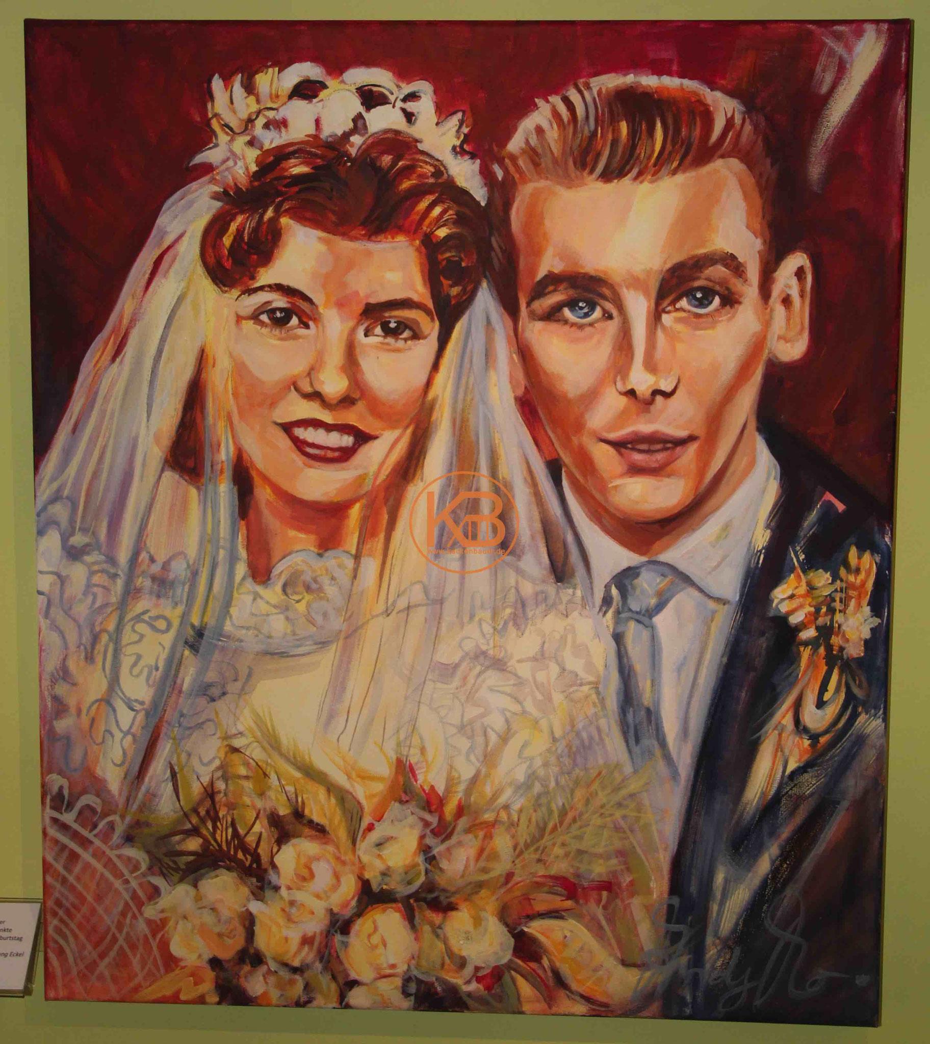 Ein Hochzeitsbild von Horst Eckel und seiner Frau
