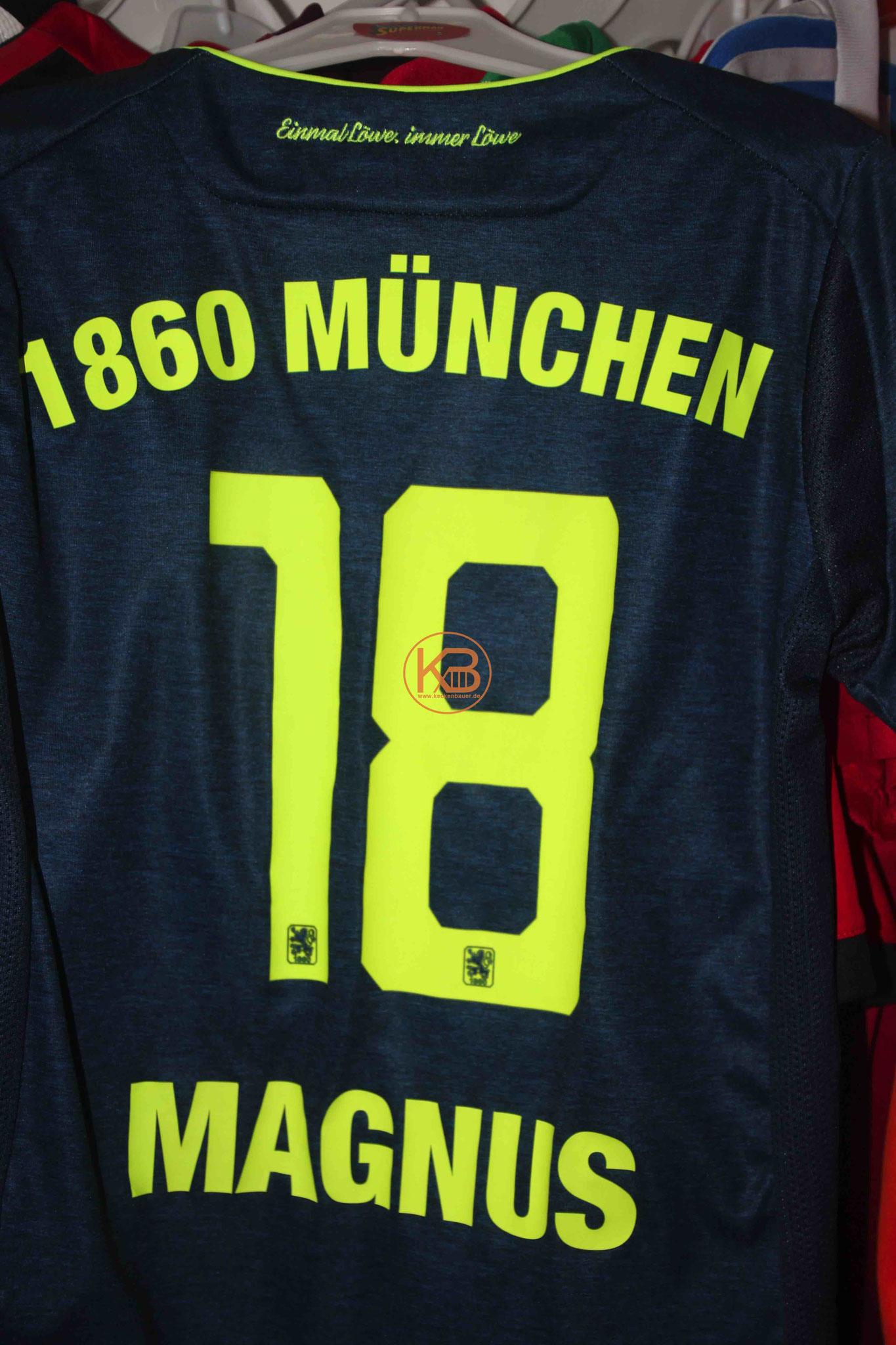 """Trikot mit Eigennamen von 1860 München mit """"seiner"""" Nummer 18 2/2"""