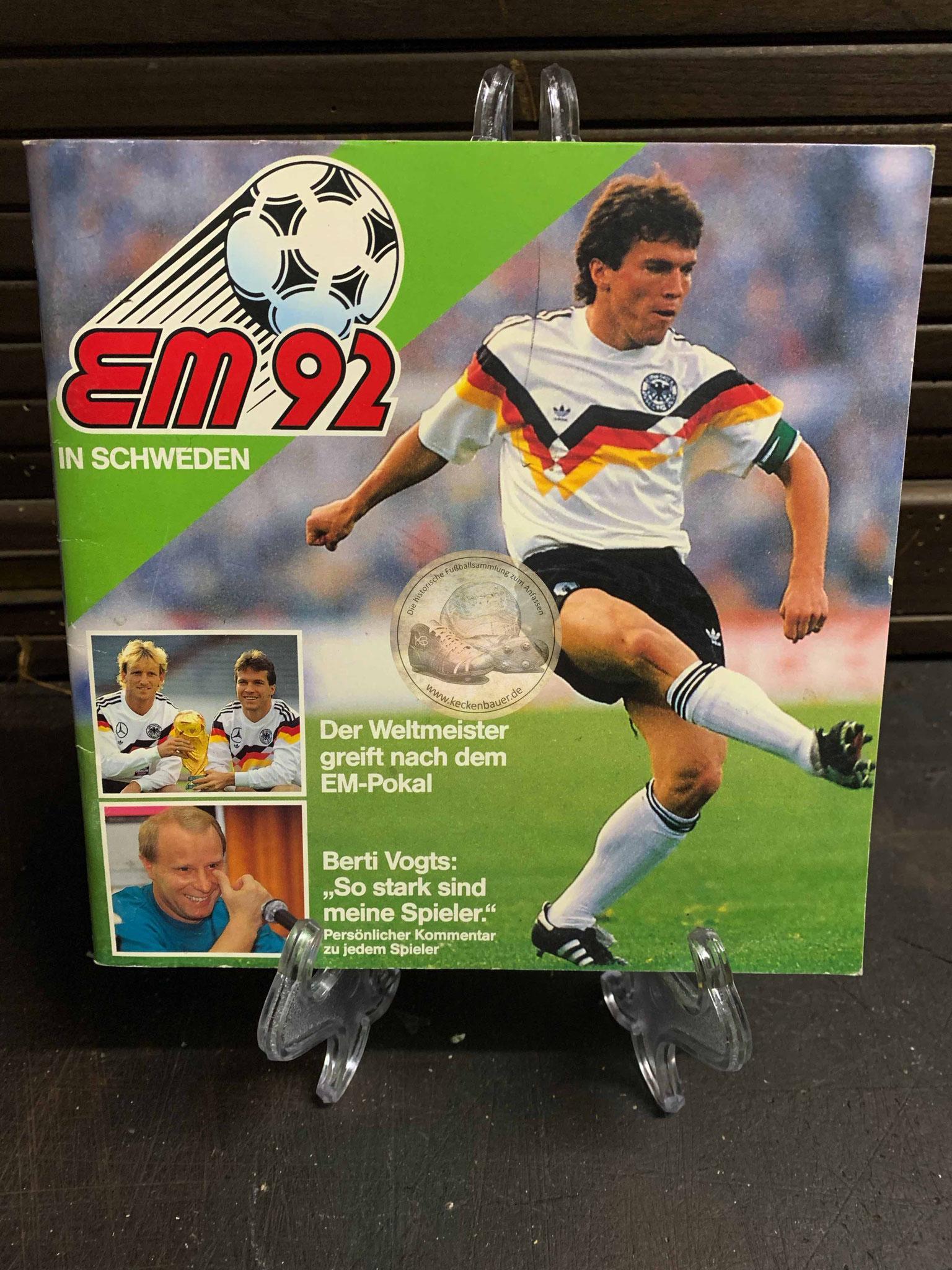 Sammelalbum Fußball EM 1992 von Ferrero