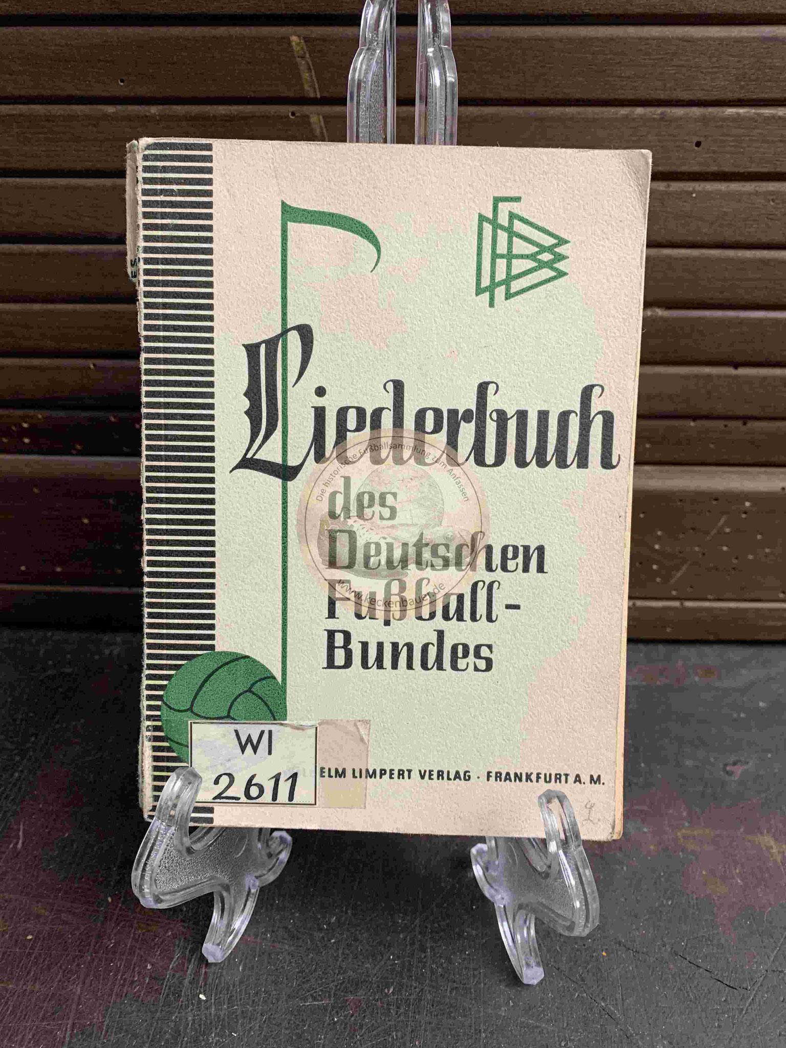 Liederbuch des Deutschen Fußball-Bundes aus dem Jahr 1953
