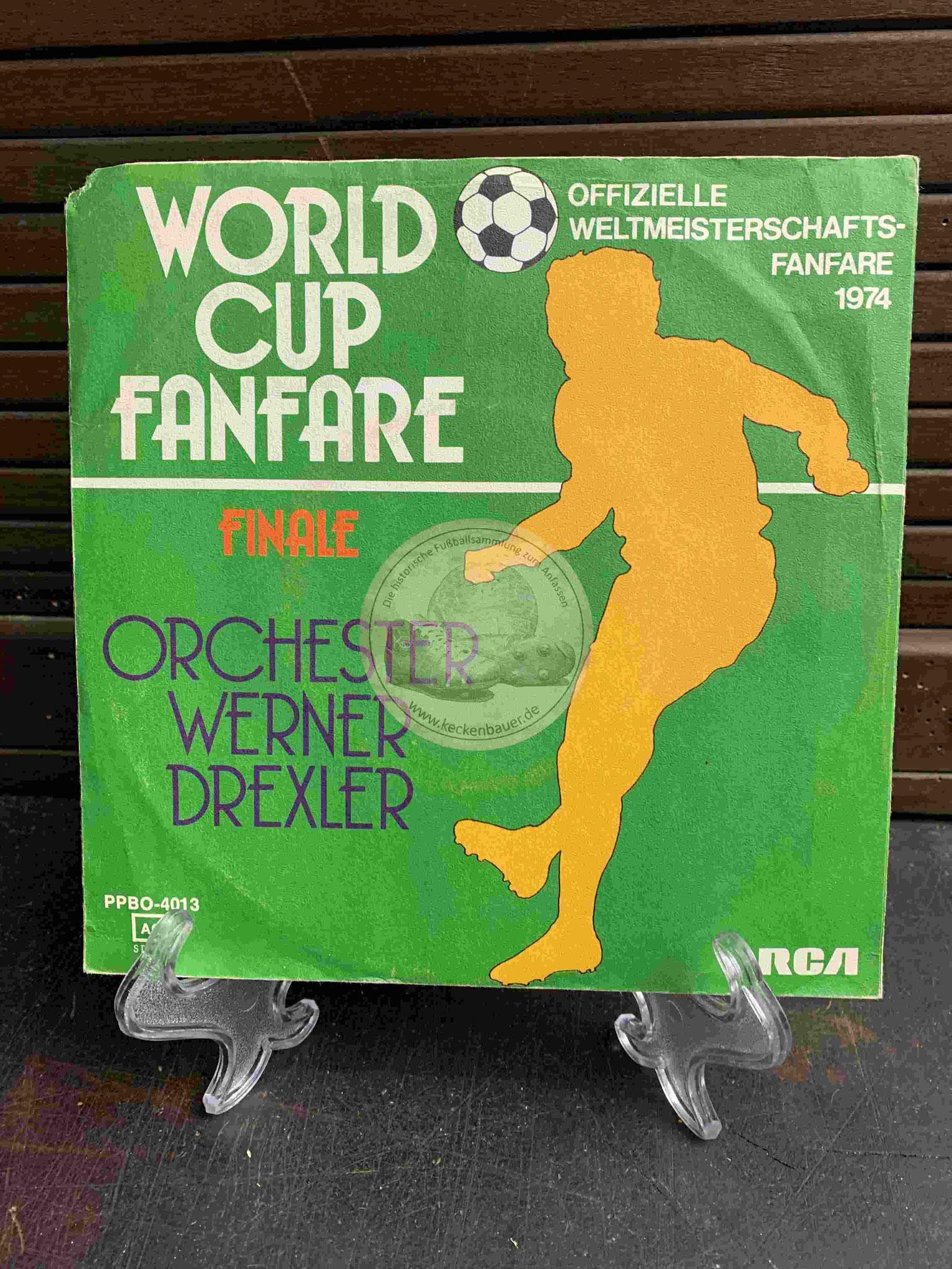 """1974 Platte vom Orchester Werner Drexler mit """"World Cup Fanfare"""" Finale"""