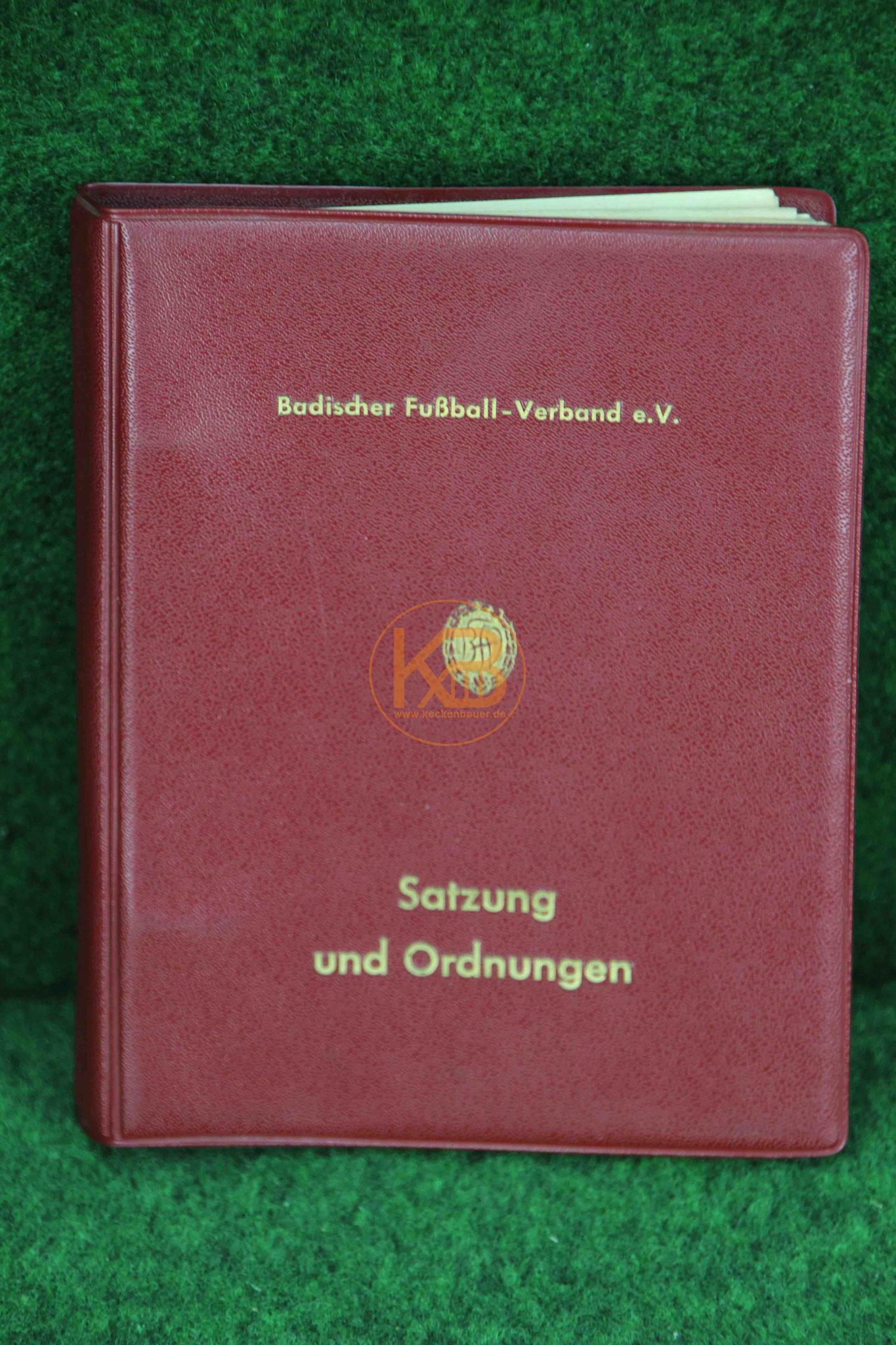 Badischer Fußballverband Fußball Satzung und Ordnungen ca.1959