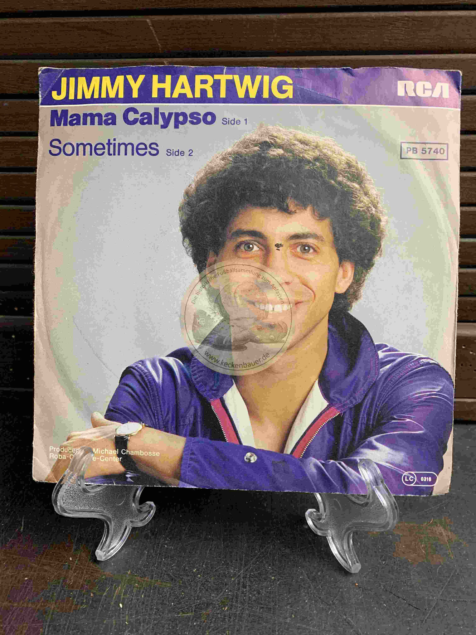 1980 Fußball-Single Mama Calypso von Jimmy Hartwig