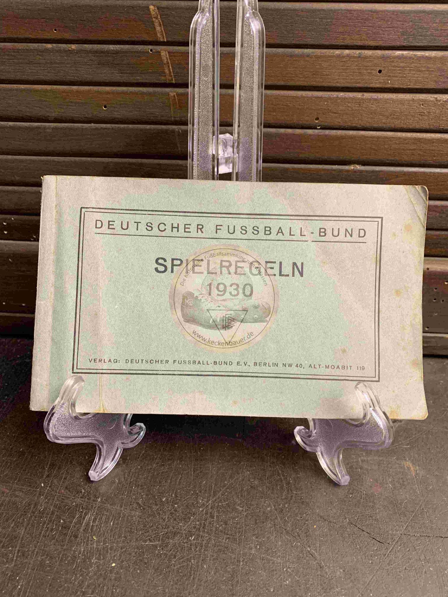 Fußballregeln des DFB aus dem Jahr 1930