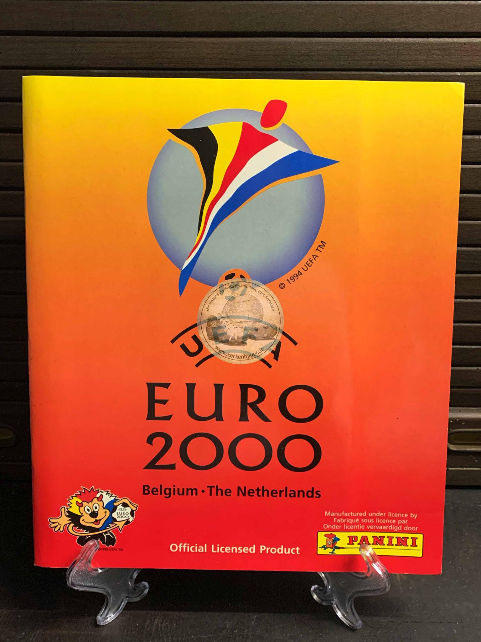 Panini Album von der EM 2000 in Belgien und der Niederlande