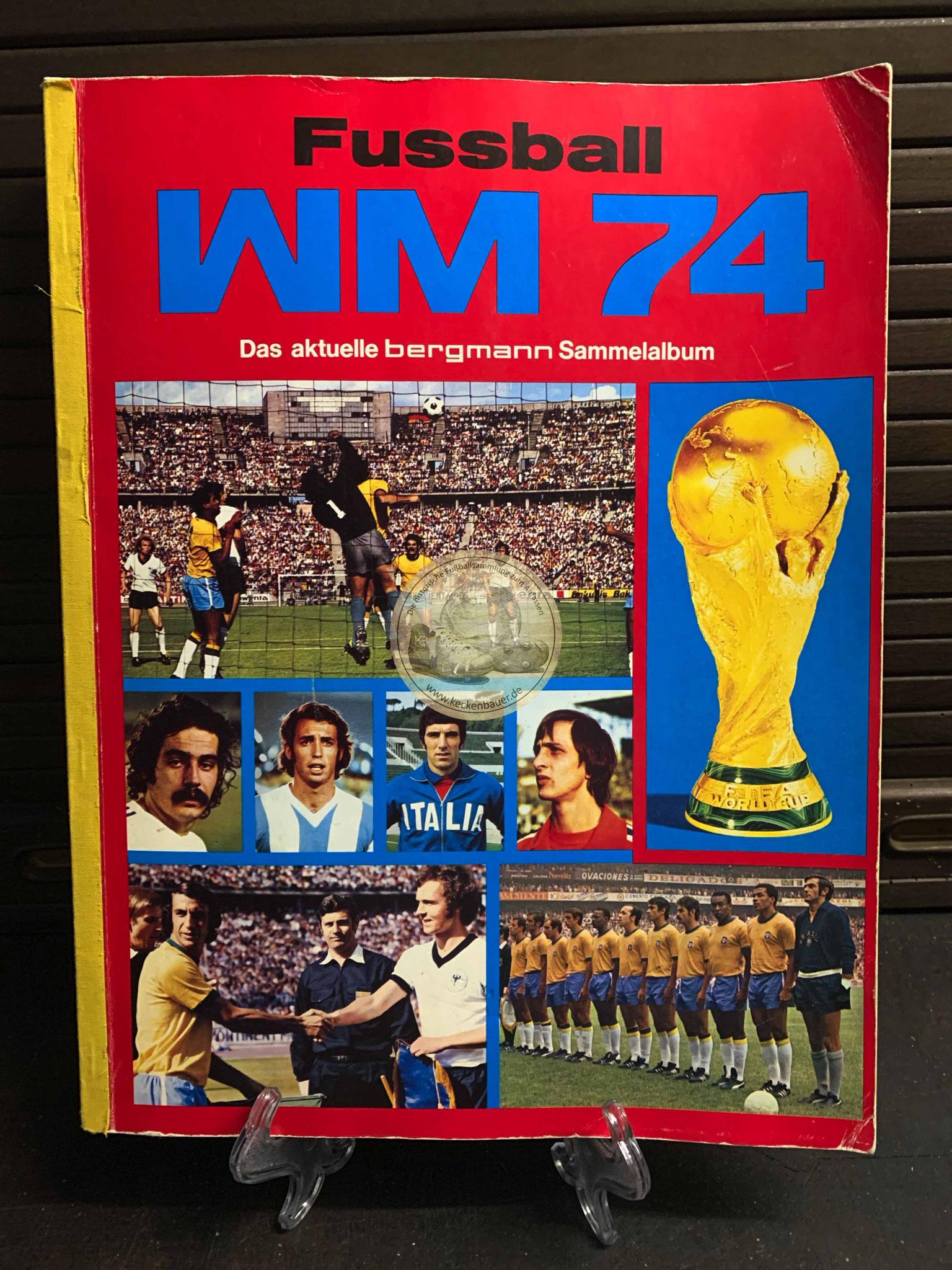 Fussball WM 74 Das aktuelle Bergmann Sammelalbum