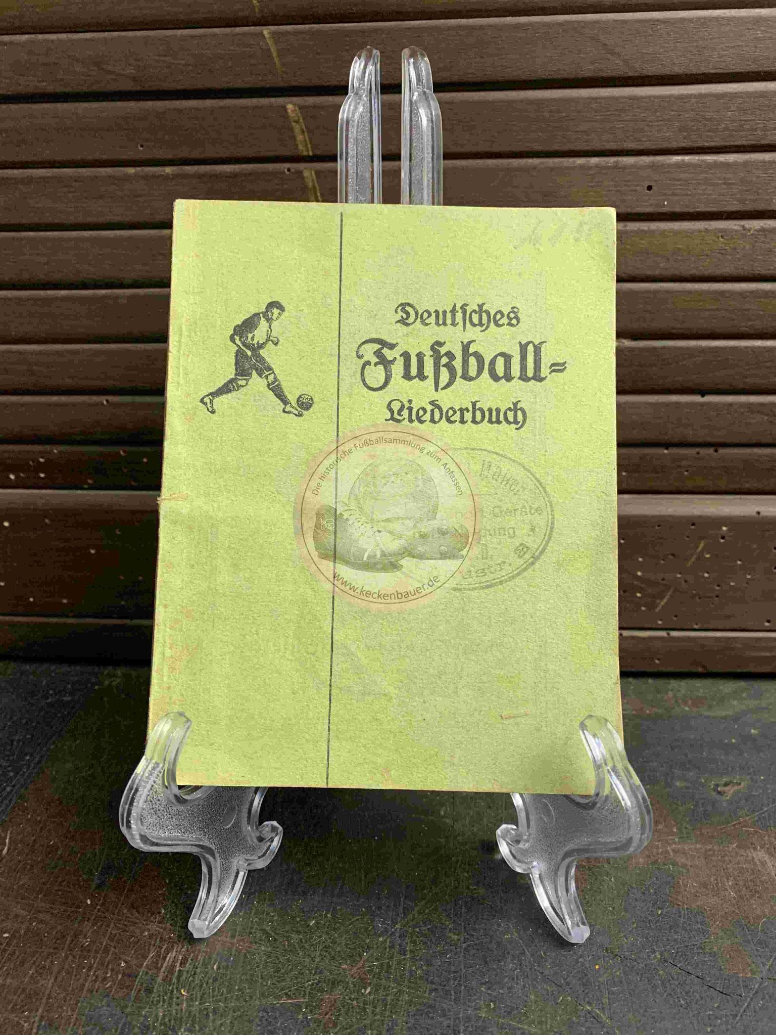 Deutsches Fußball Liederbuch aus dem Jahr 1923