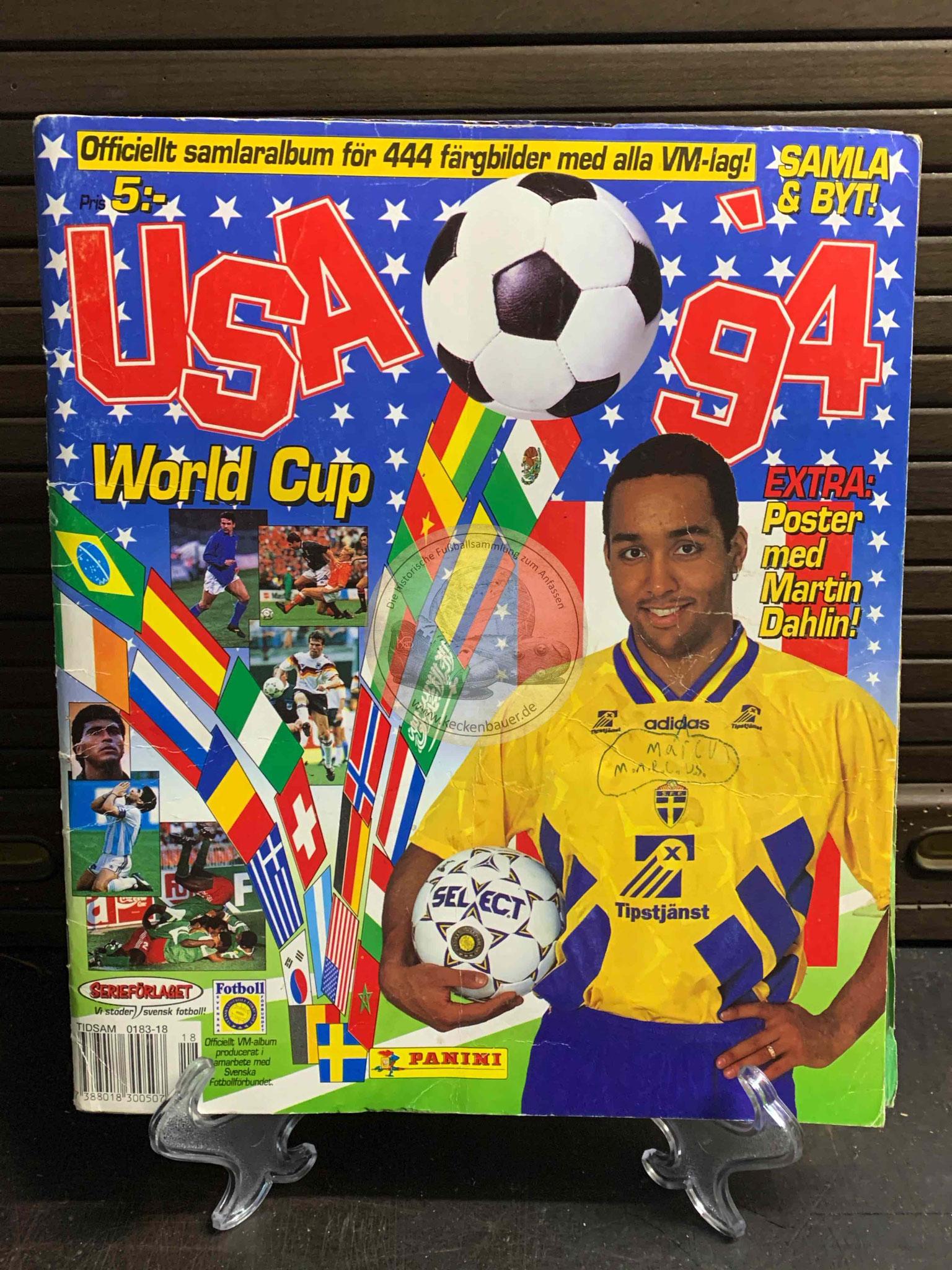 Panini Album von der WM 1994 in den USA