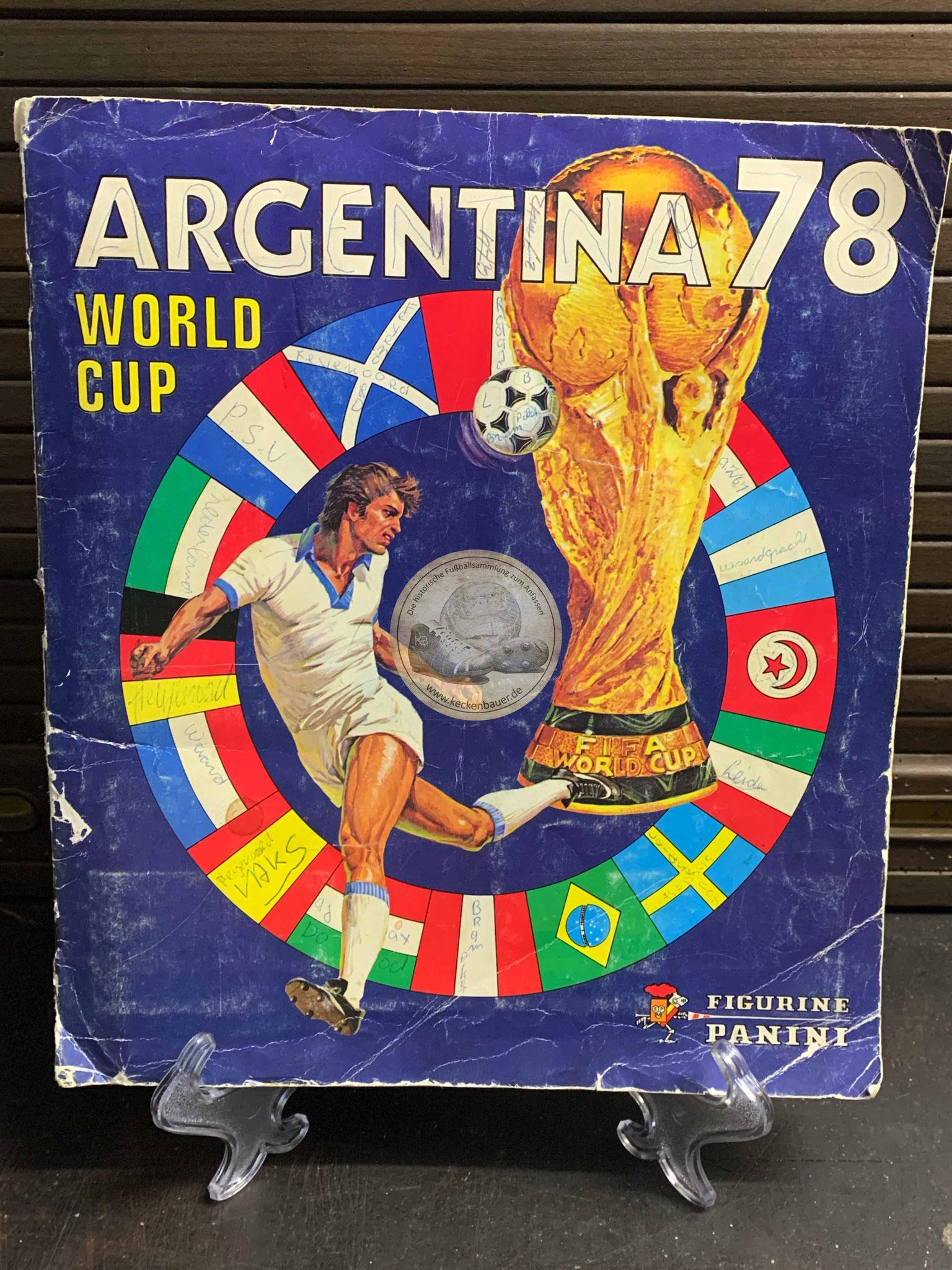 Panini Album von der WM 1978 in Argentinien