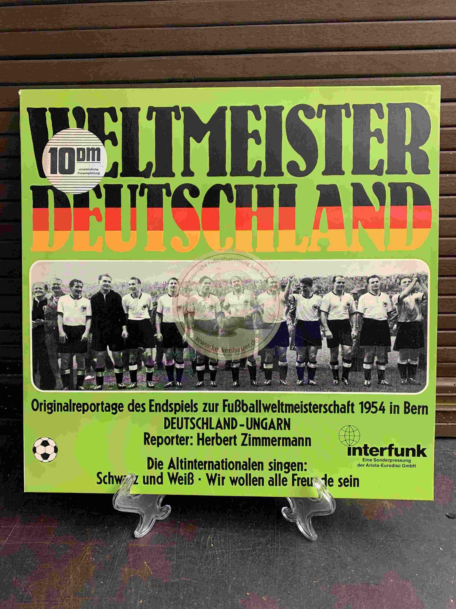 1974 Weltmeister Deutschland Originalreportage des Endspiels zur Fußballweltmeisterschaft 1954 in Bern