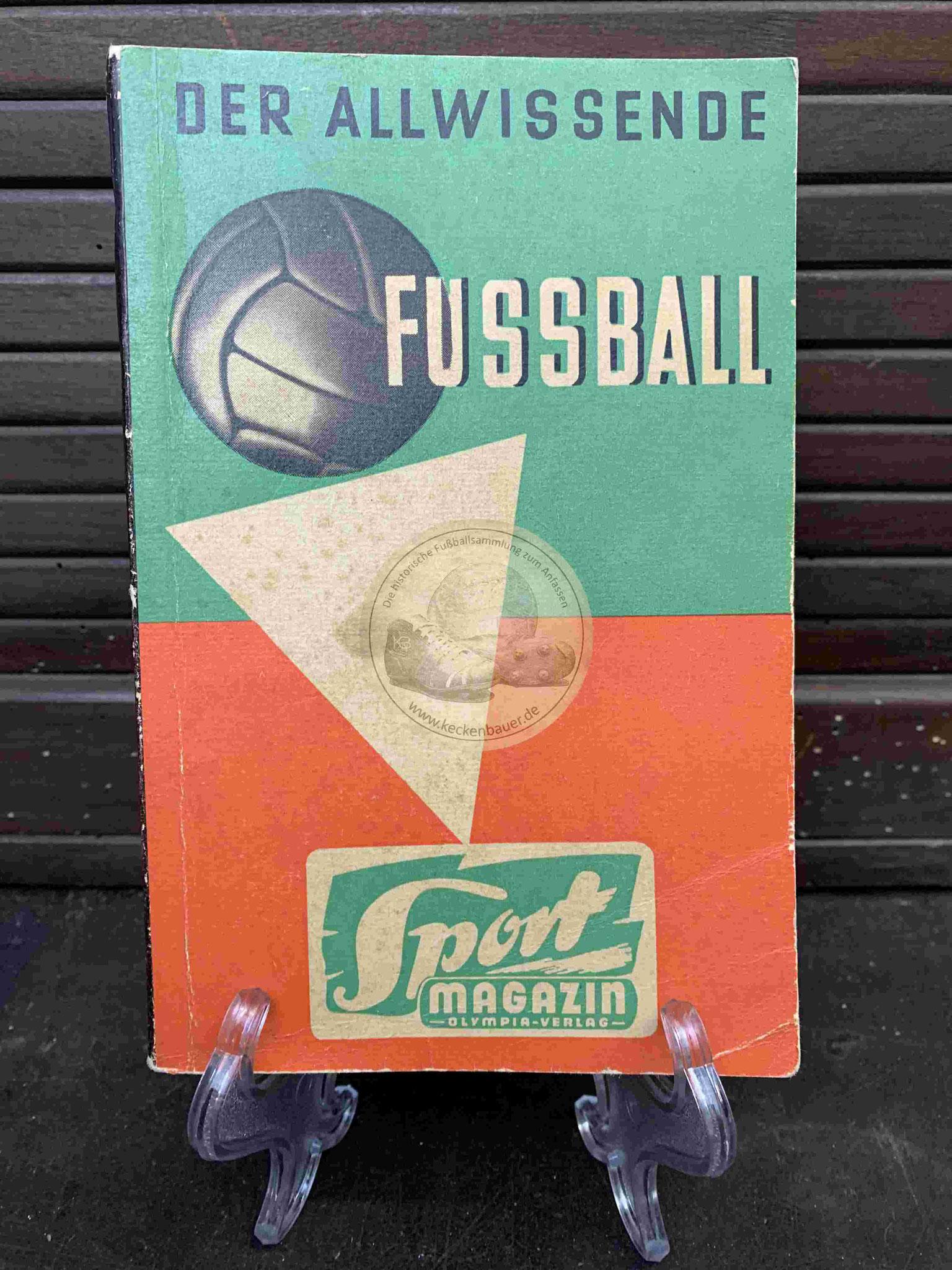 Der Allwissende Fussball vom Sport Magazin aus dem Jahr 1962