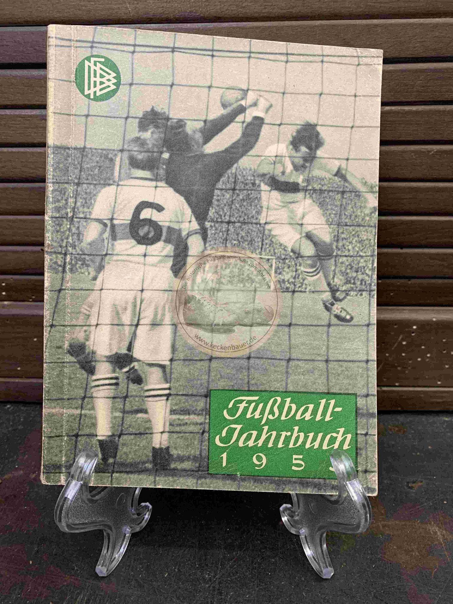 Fußball Jahrbuch herausgegeben vom deutschen Fußballbund aus dem Jahr 1953