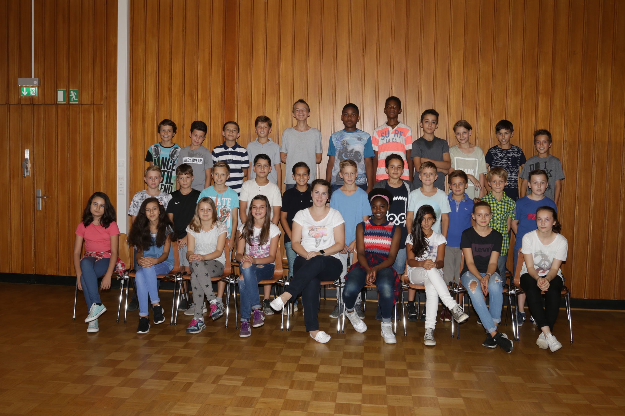 Sportklasse 6b September 2016