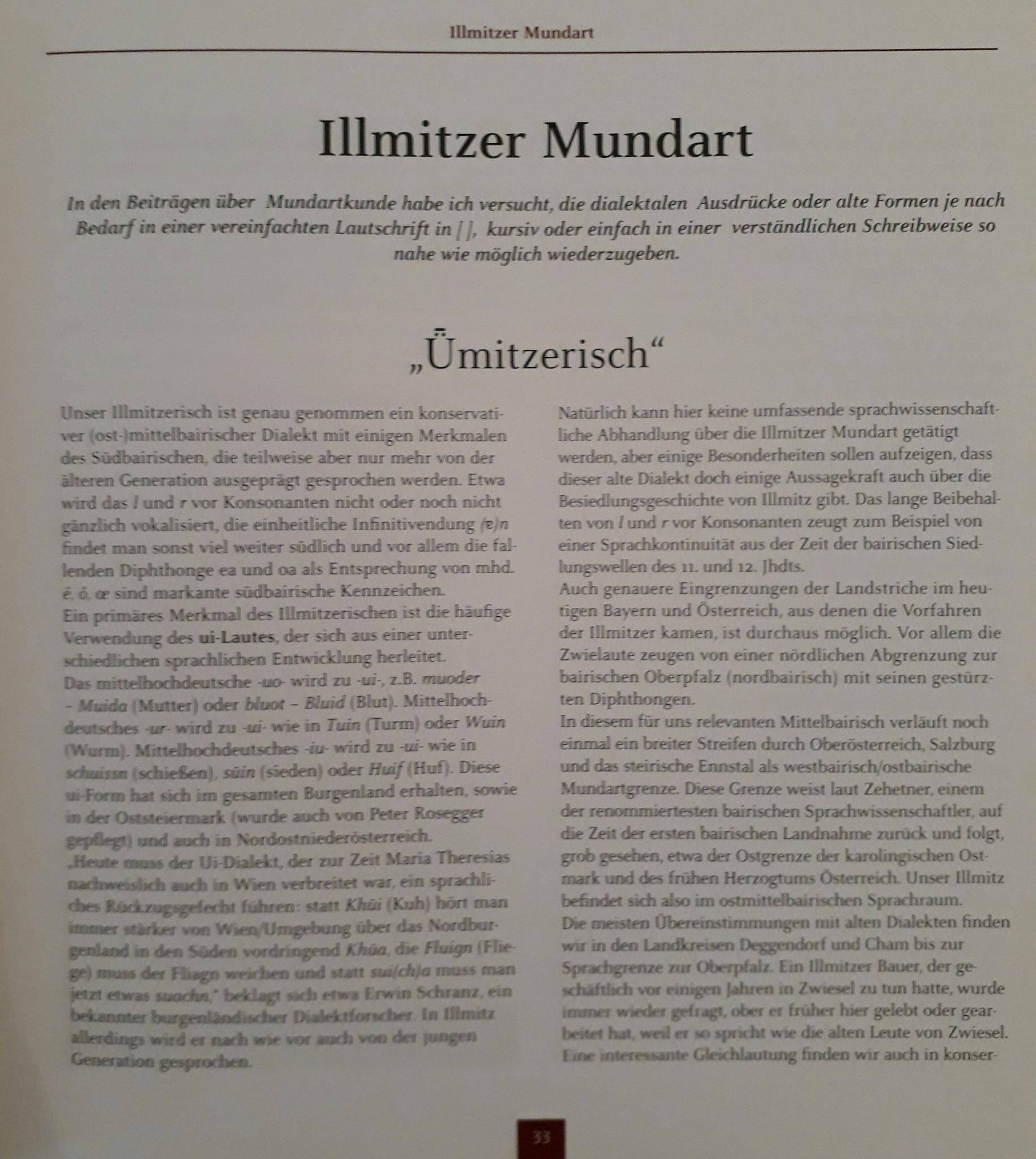 Illmitzer Mundart