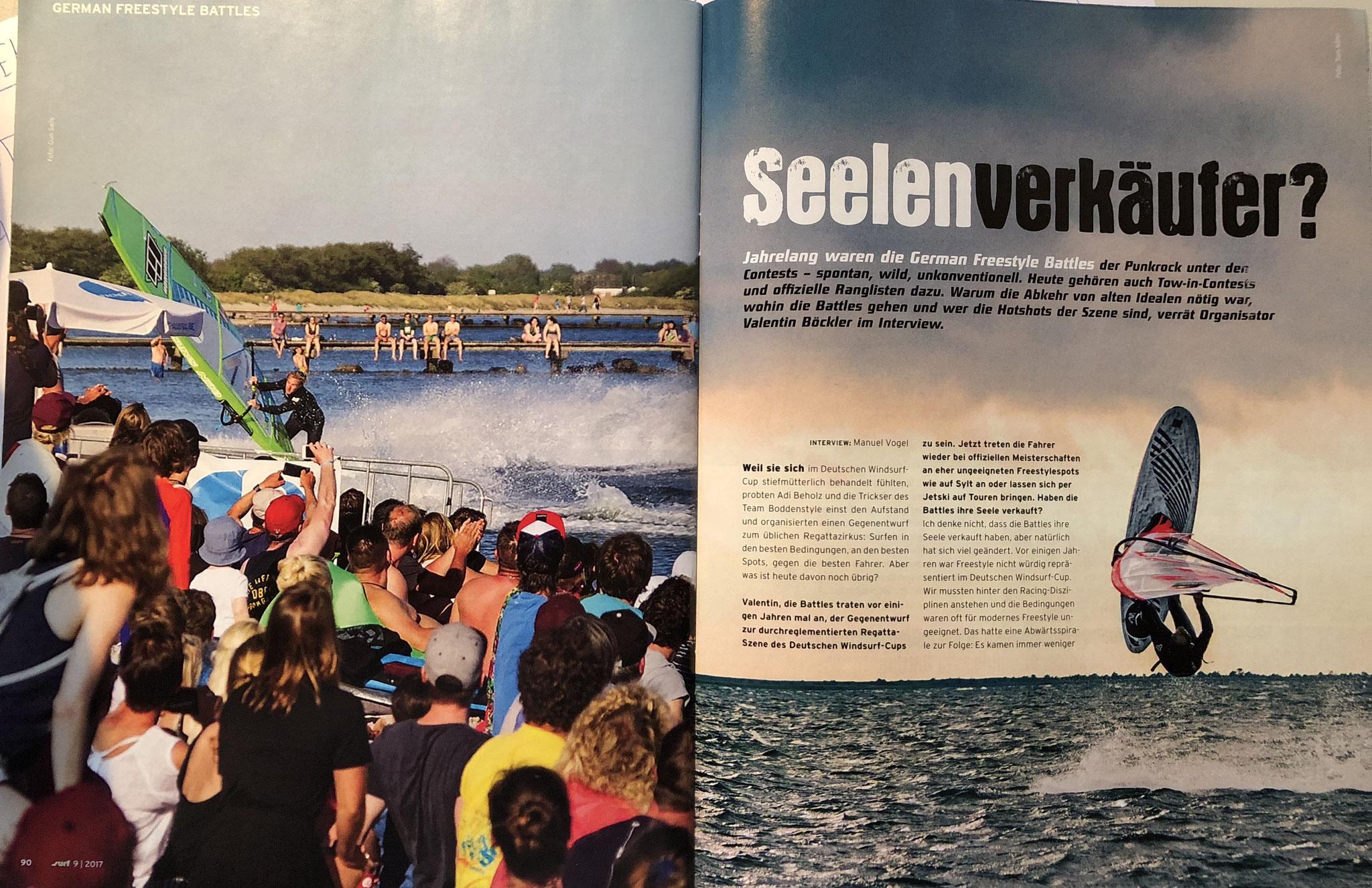 8 seitiges Interview SURF magazin