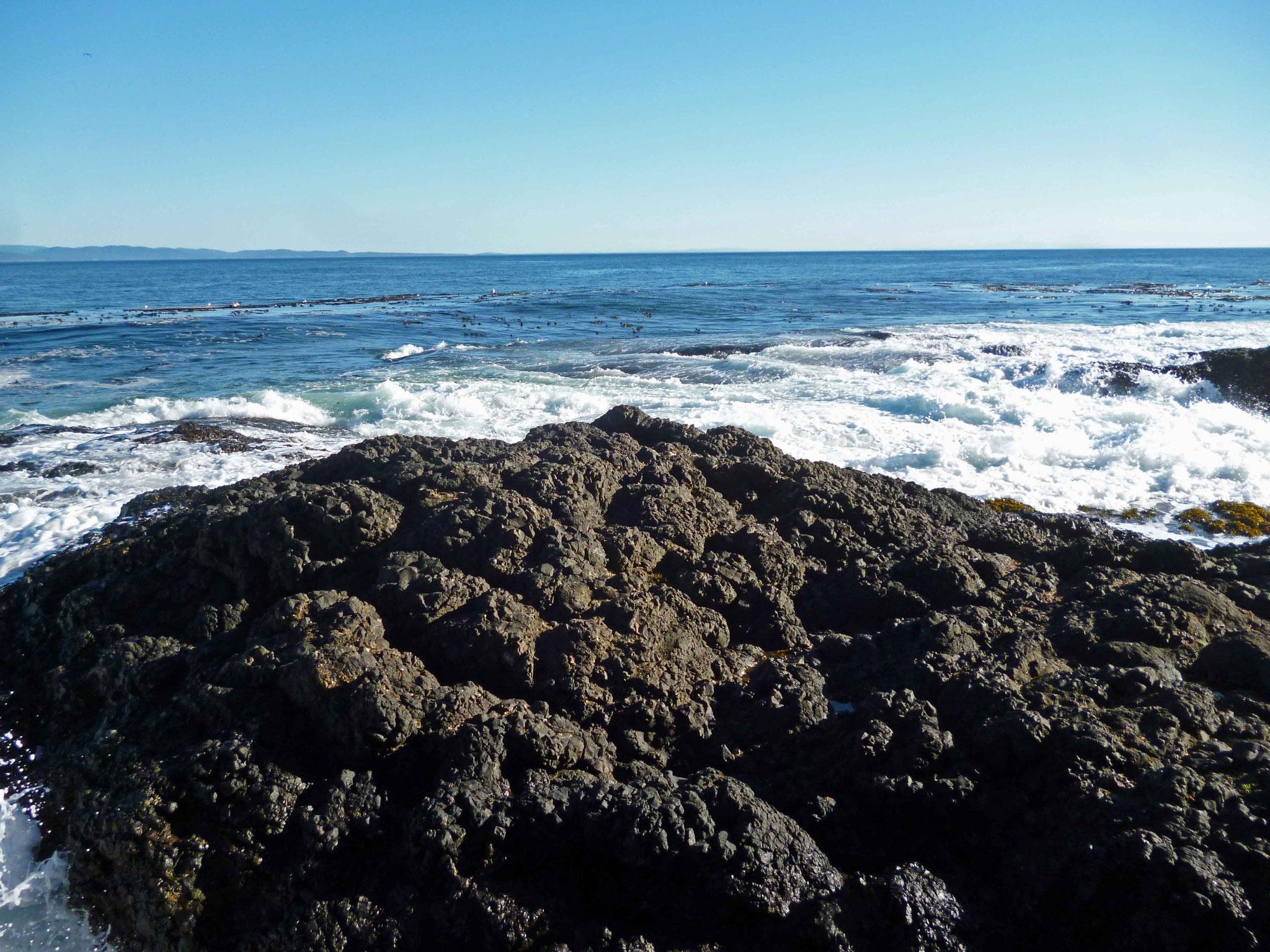Bild 3 Der pazifische Ozean rauscht krätig heran