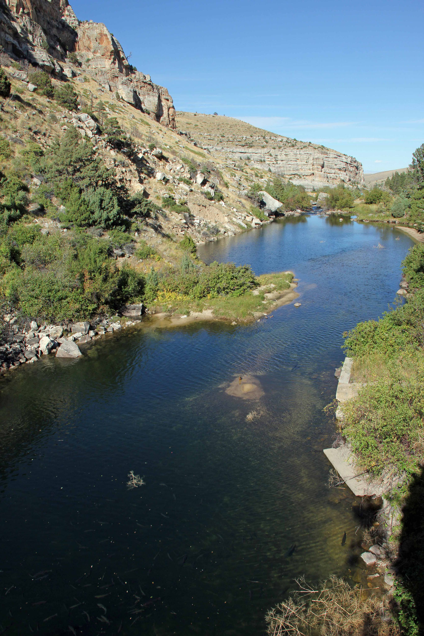 "Bild 26 Blick auf den ""Popo Agie River"""
